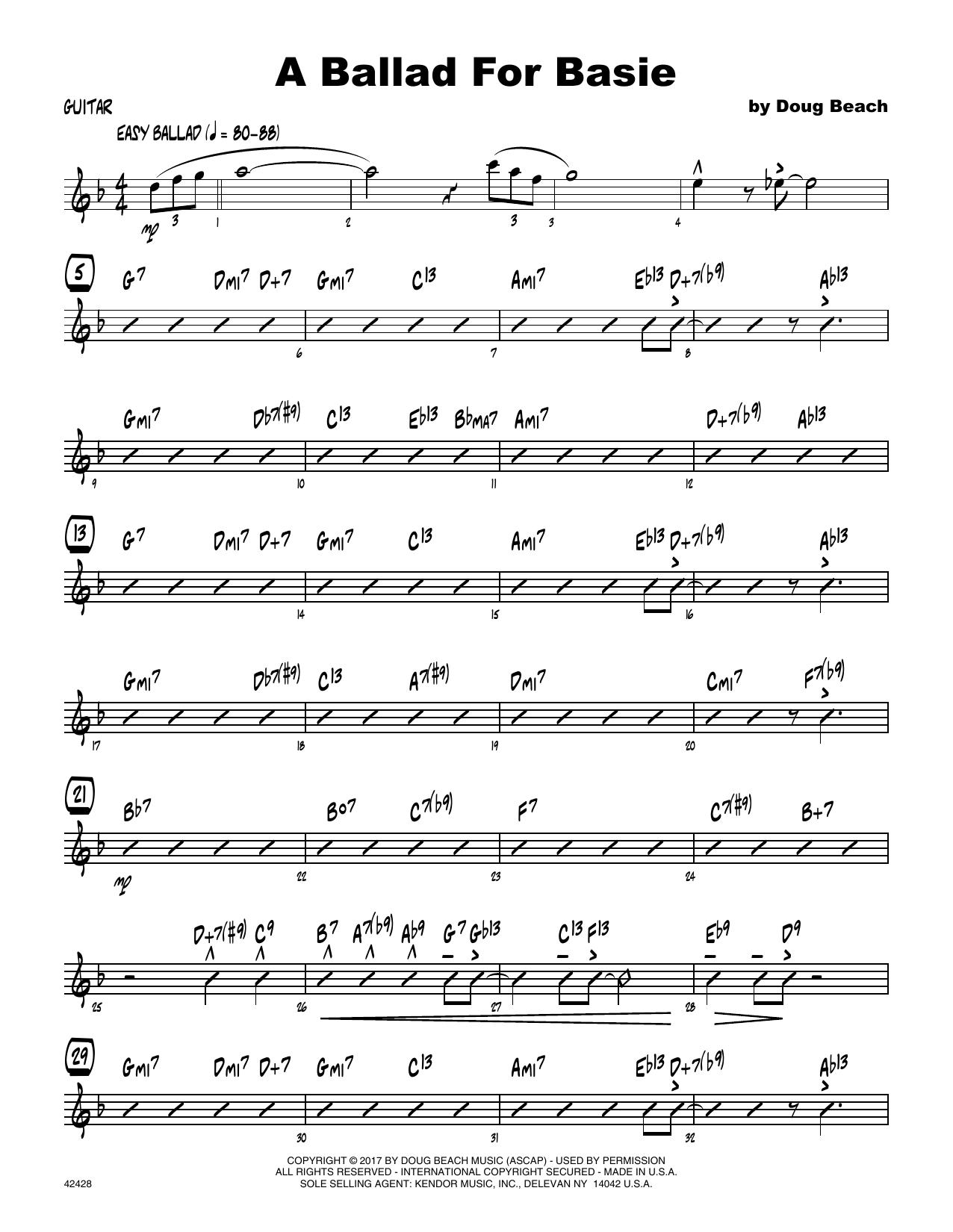 A Ballad For Basie - Guitar Sheet Music