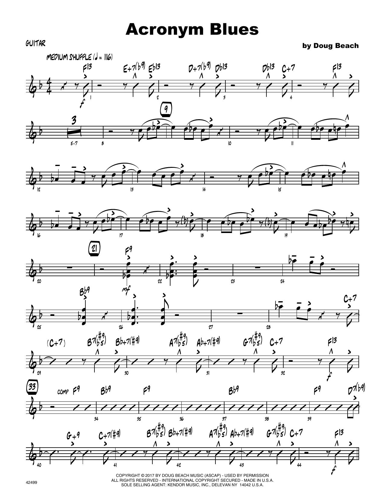 Acronym Blues - Guitar Sheet Music