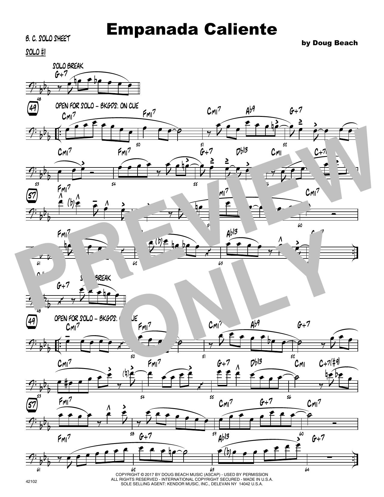 Empanada Caliente - Solo Sheet - Trombone Sheet Music