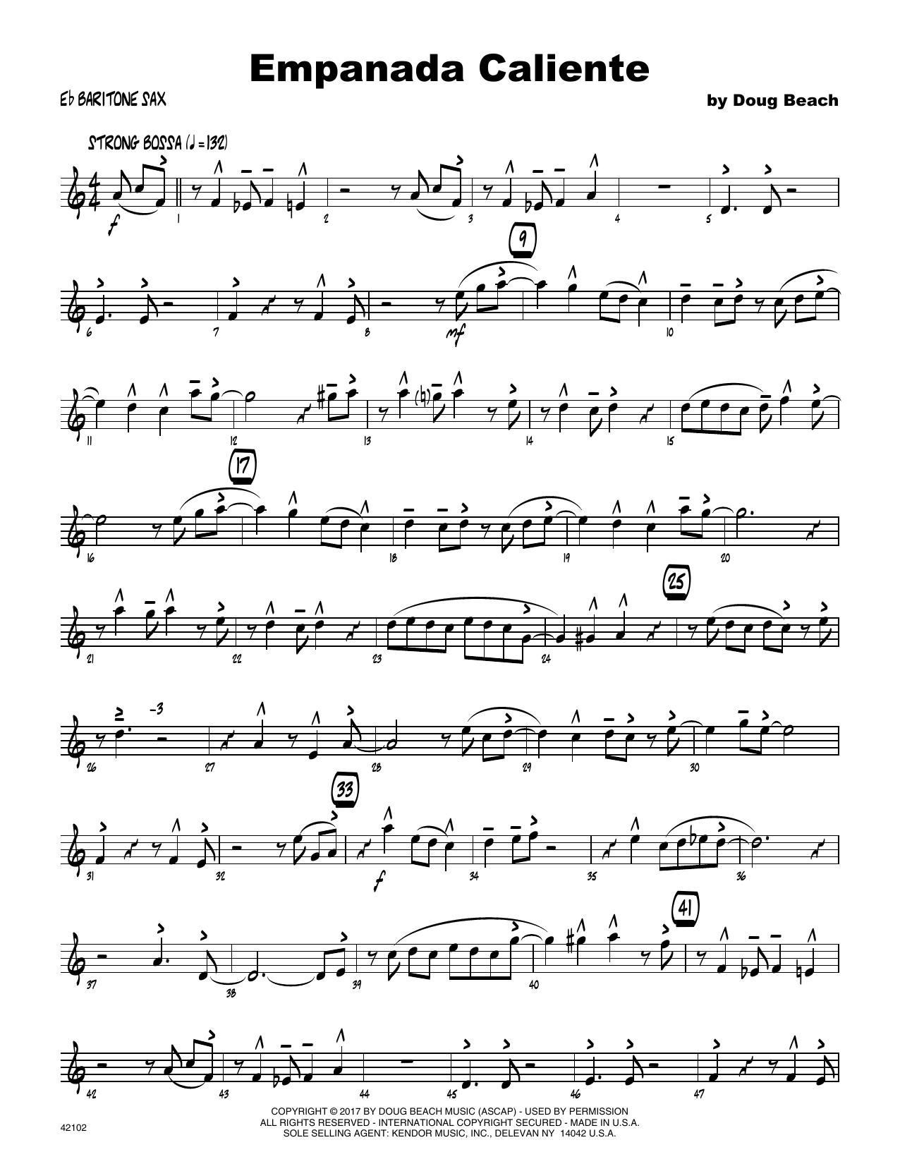 Empanada Caliente - Eb Baritone Saxophone Sheet Music