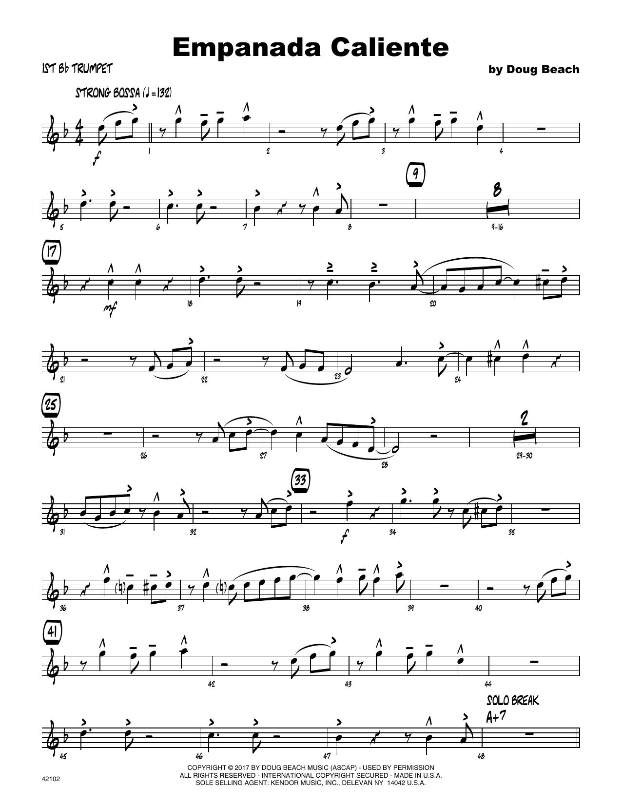 Empanada Caliente - 1st Bb Trumpet Sheet Music