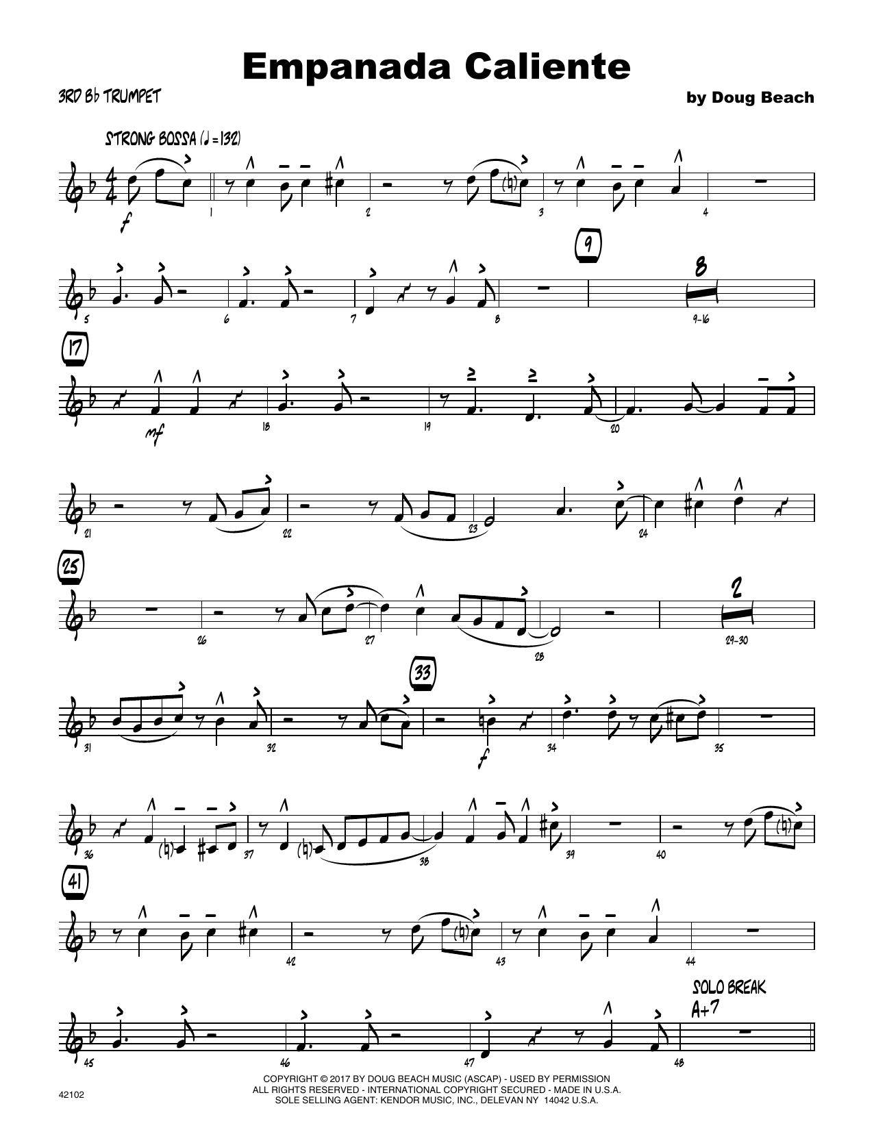 Empanada Caliente - 3rd Bb Trumpet Sheet Music
