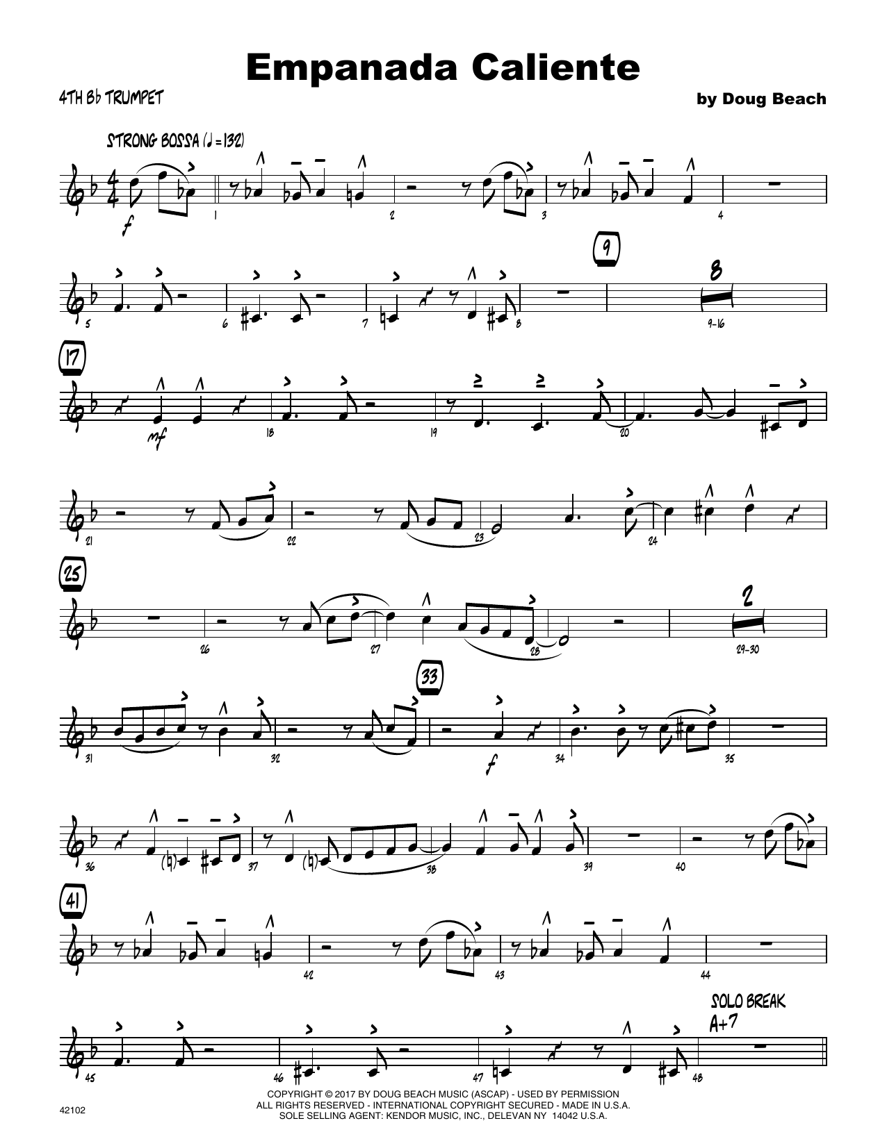 Empanada Caliente - 4th Bb Trumpet Sheet Music
