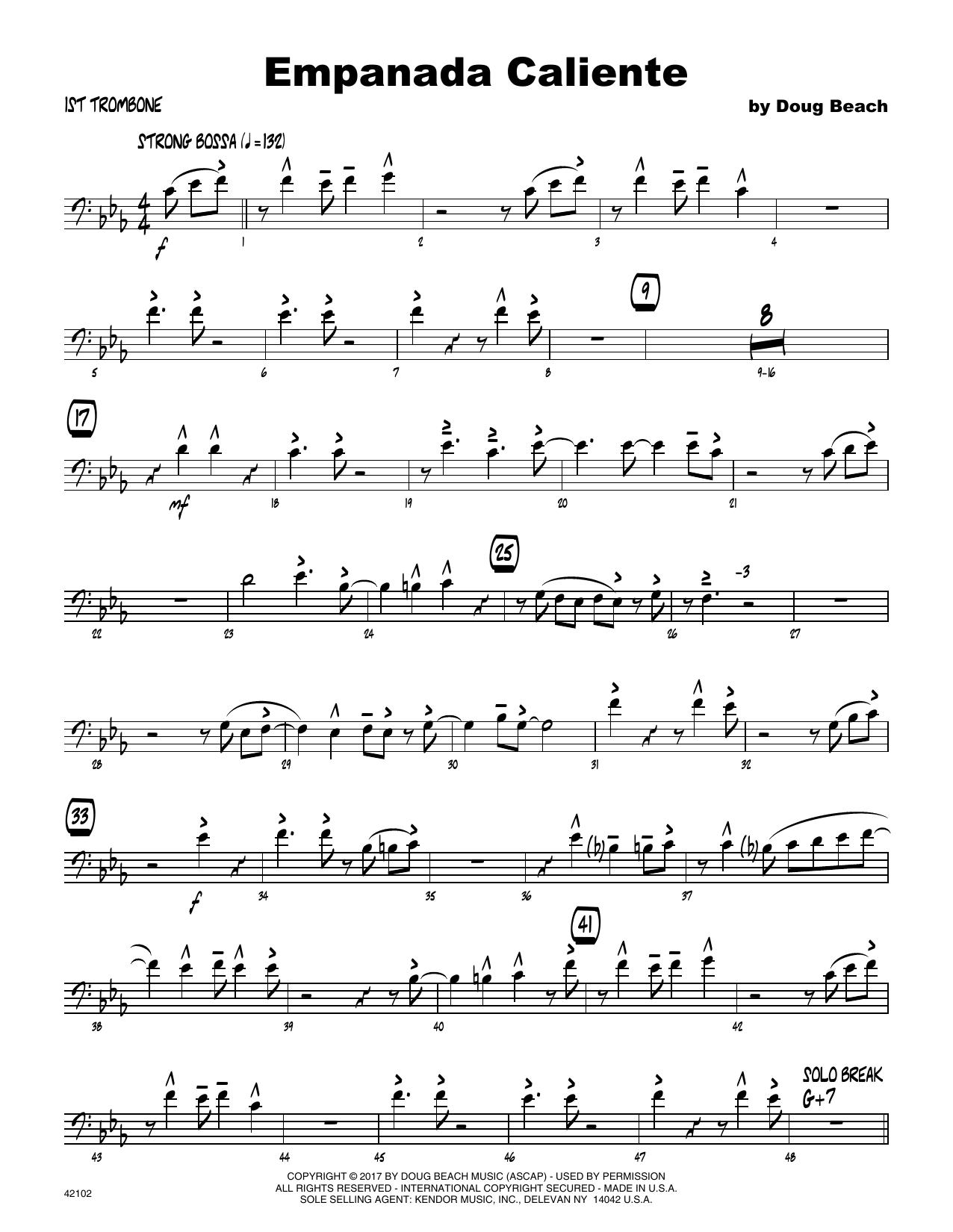 Empanada Caliente - 1st Trombone Sheet Music