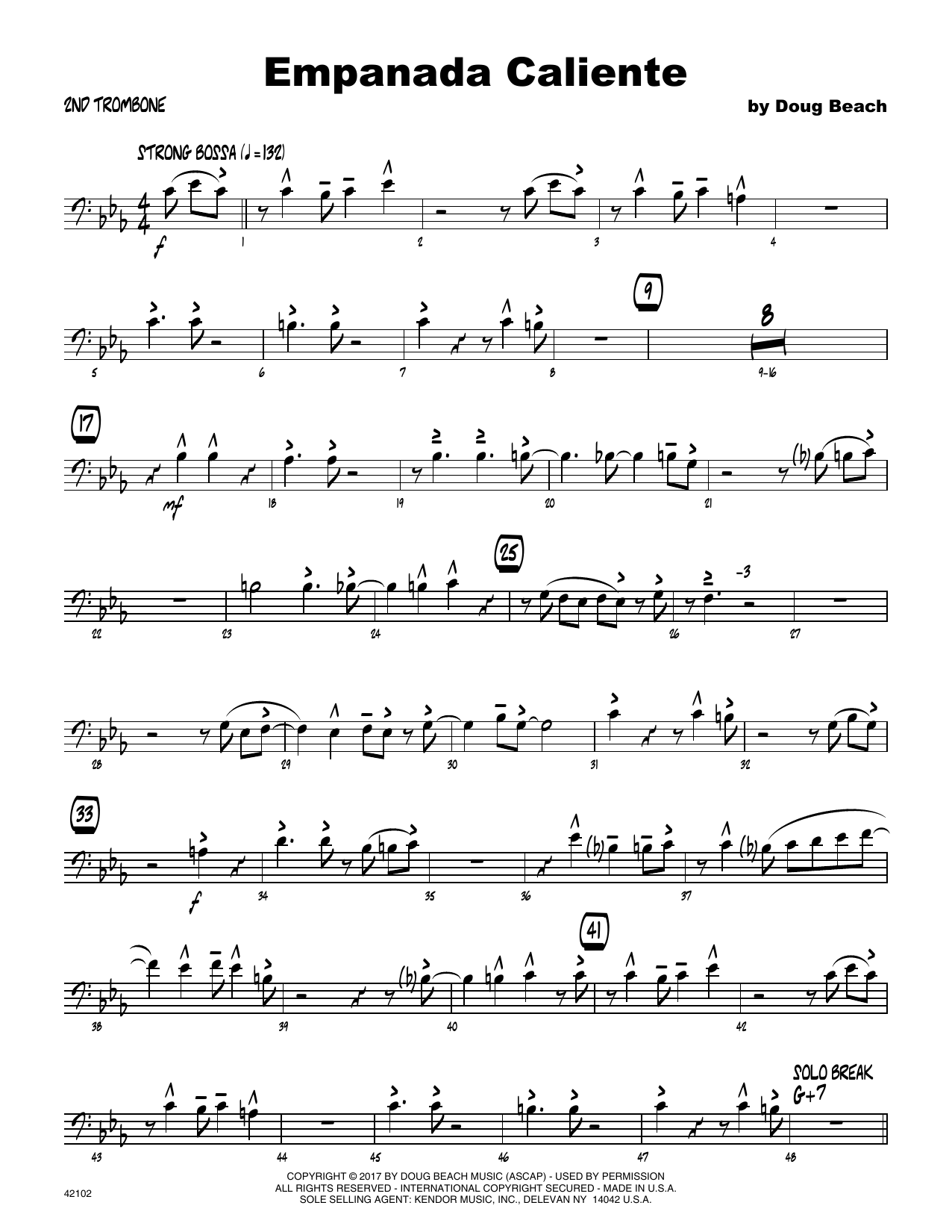 Empanada Caliente - 2nd Trombone Sheet Music