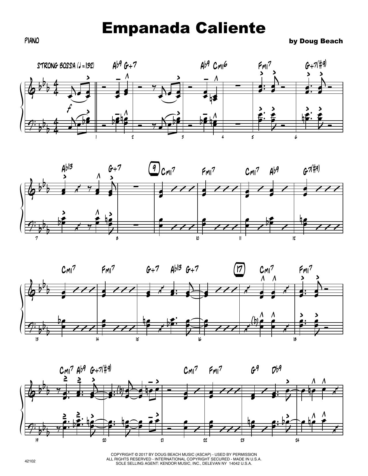 Empanada Caliente - Piano Sheet Music