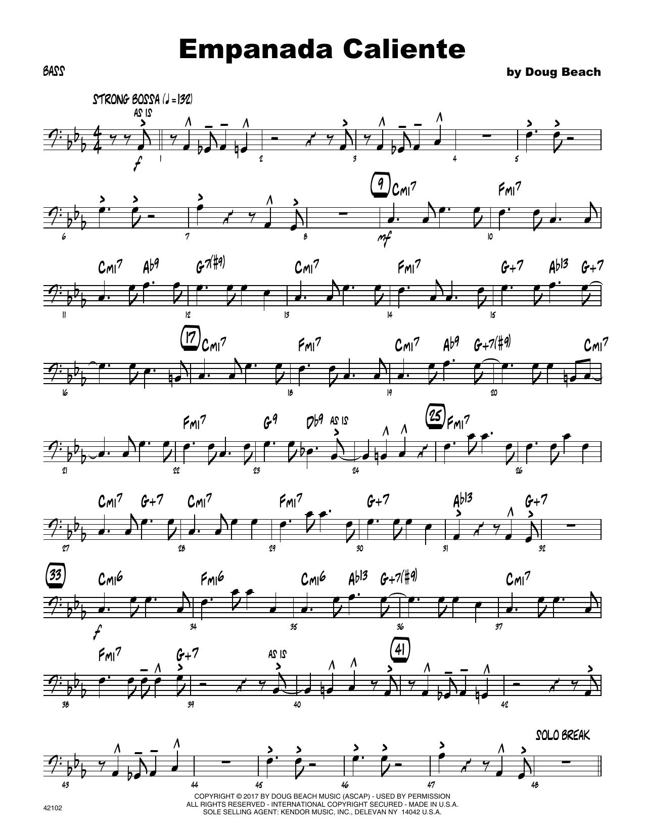 Empanada Caliente - Bass Sheet Music
