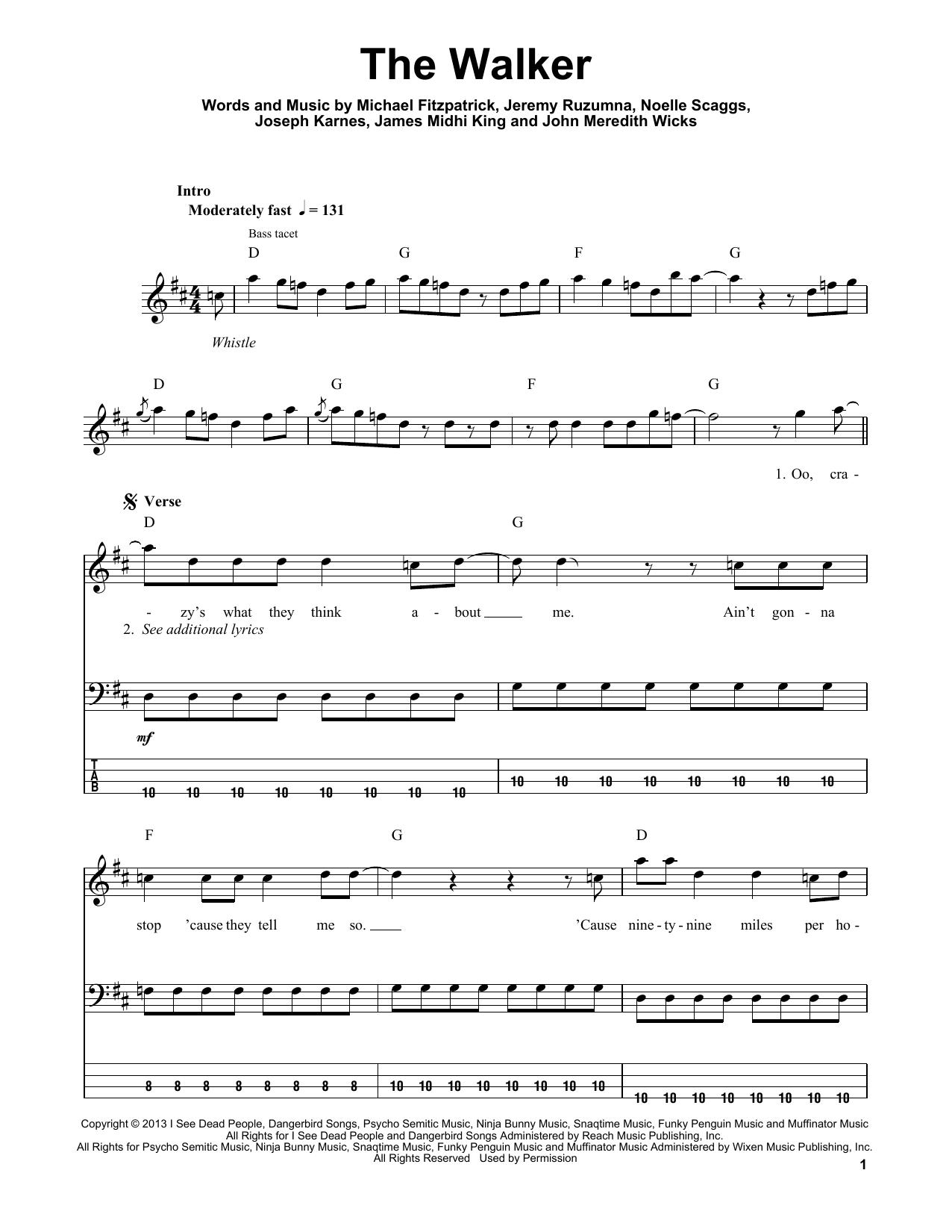 The Walker (Guitar Tab (Single Guitar))