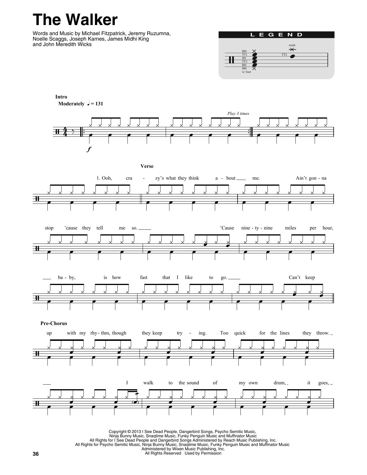 The Walker (Drums Transcription)