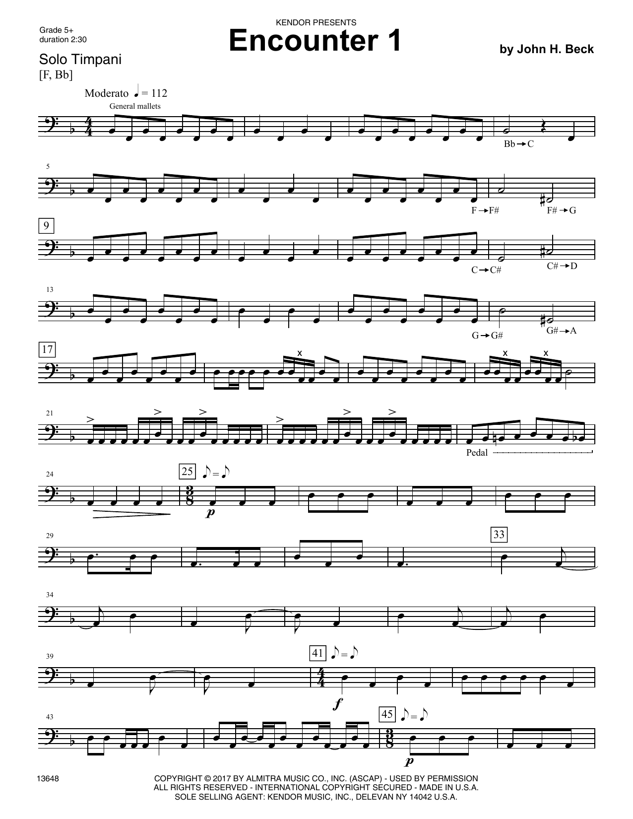 Encounters (6 Advanced Timpani Solos) Sheet Music
