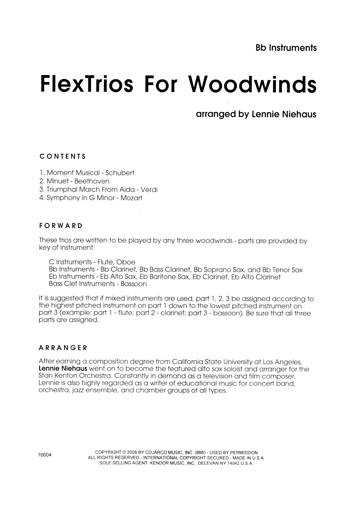 FlexTrios For Woodwinds (playable by any three woodwind instruments) - Bb Instruments Partition Digitale