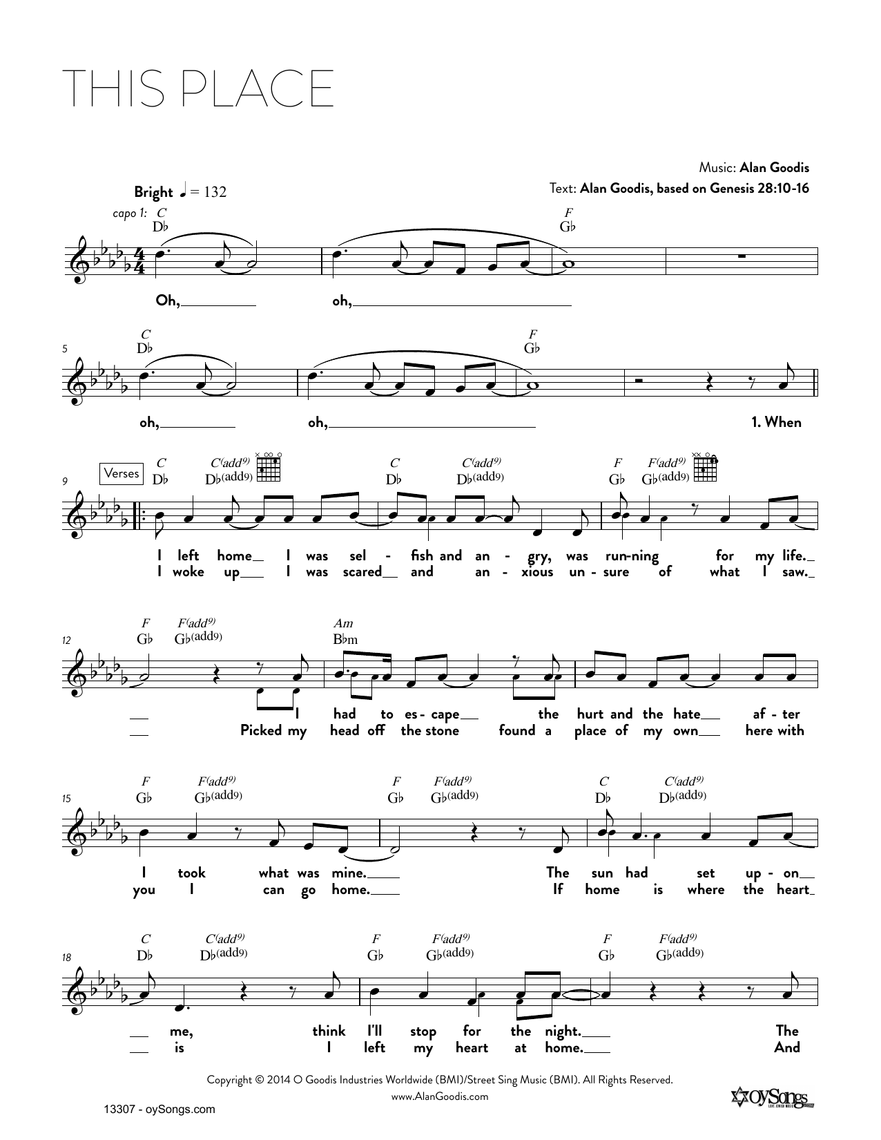 This Place Sheet Music