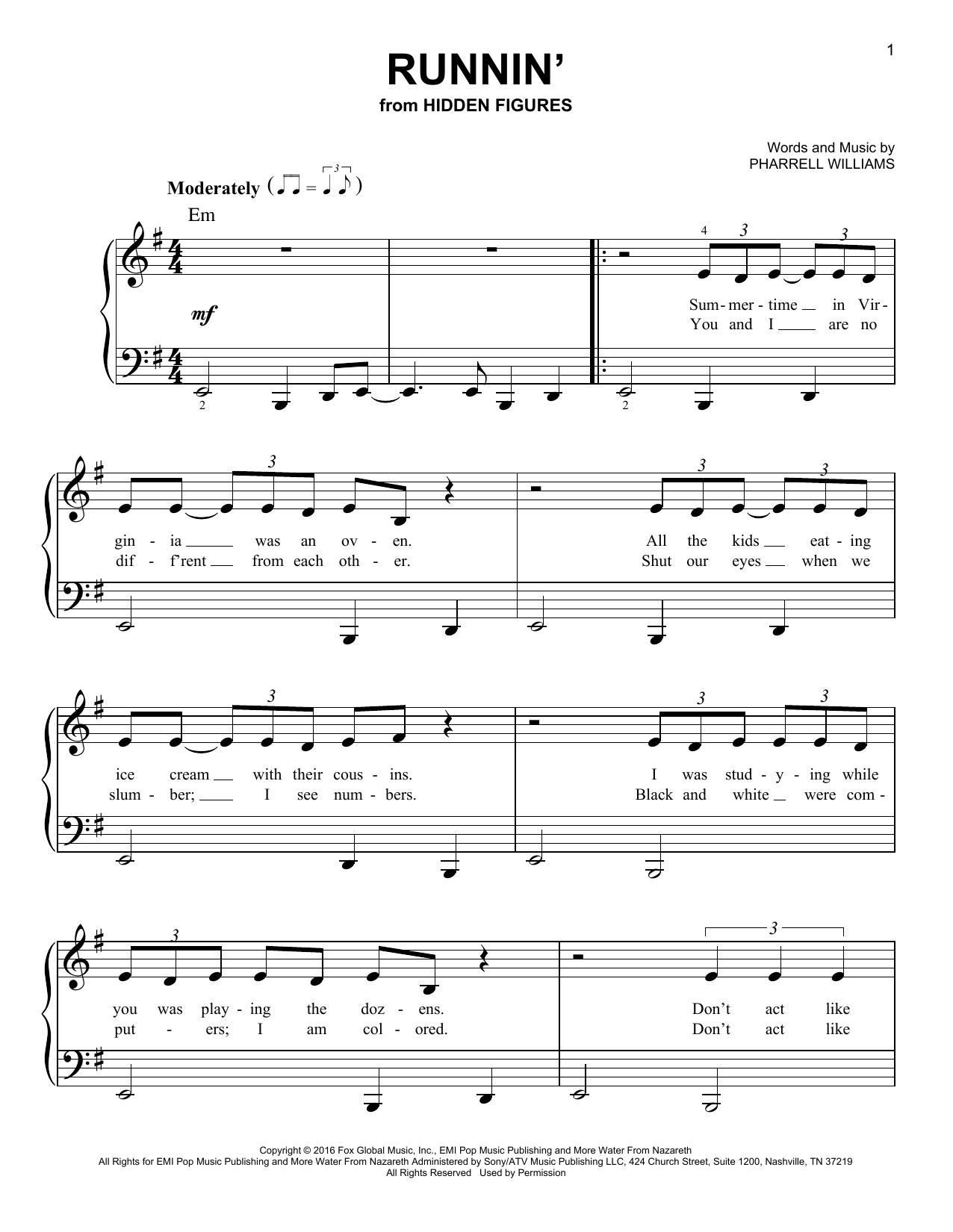 Runnin' (Easy Piano)
