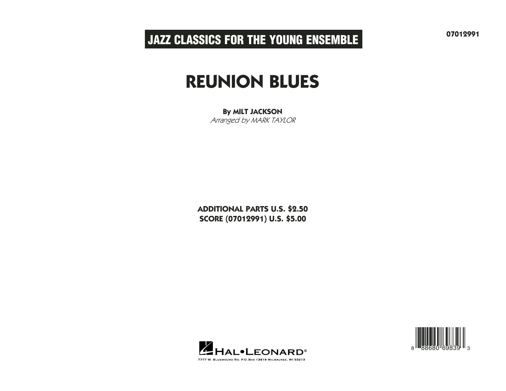 Reunion Blues Dl - Conductor Score (Full Score) (Jazz Ensemble)