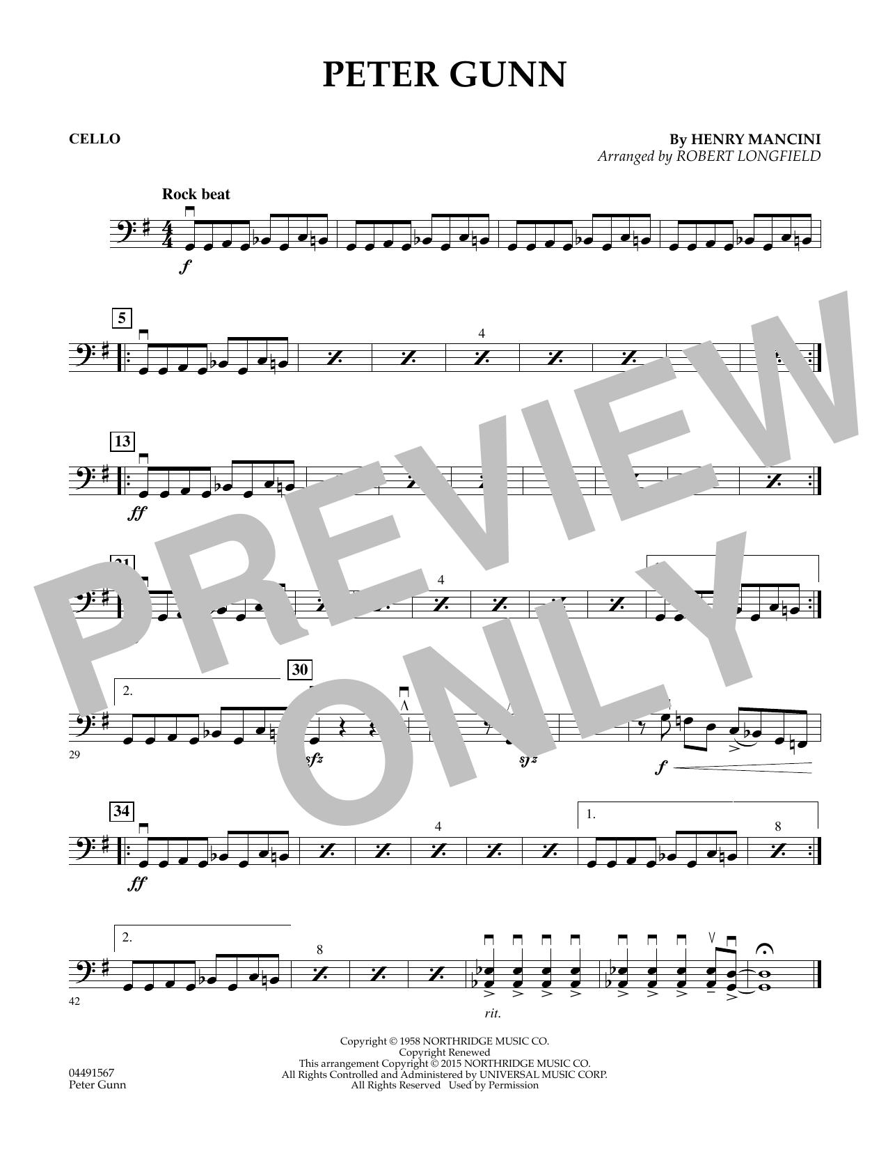 Peter Gunn - Cello (Orchestra)
