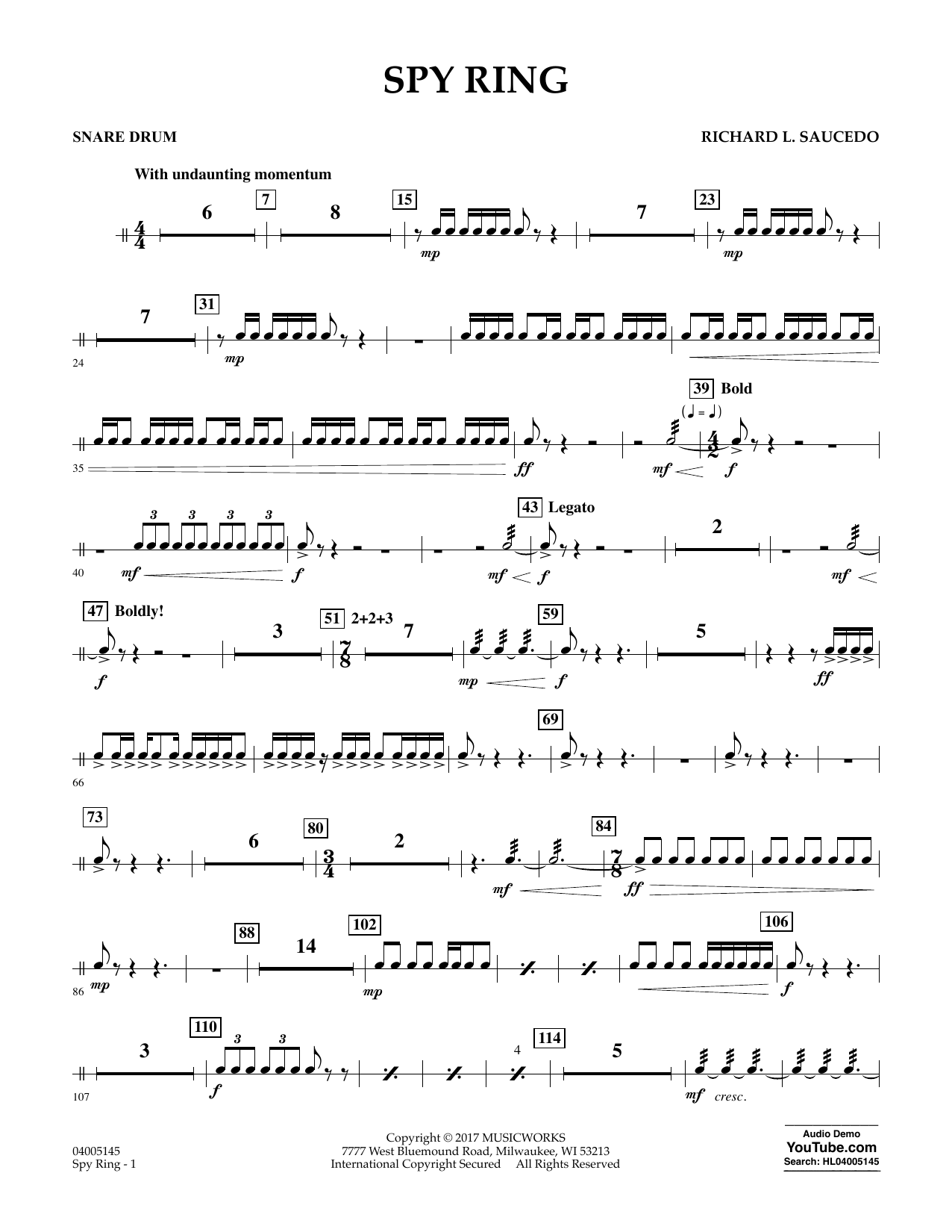Spy Ring - Snare Drum (Concert Band)