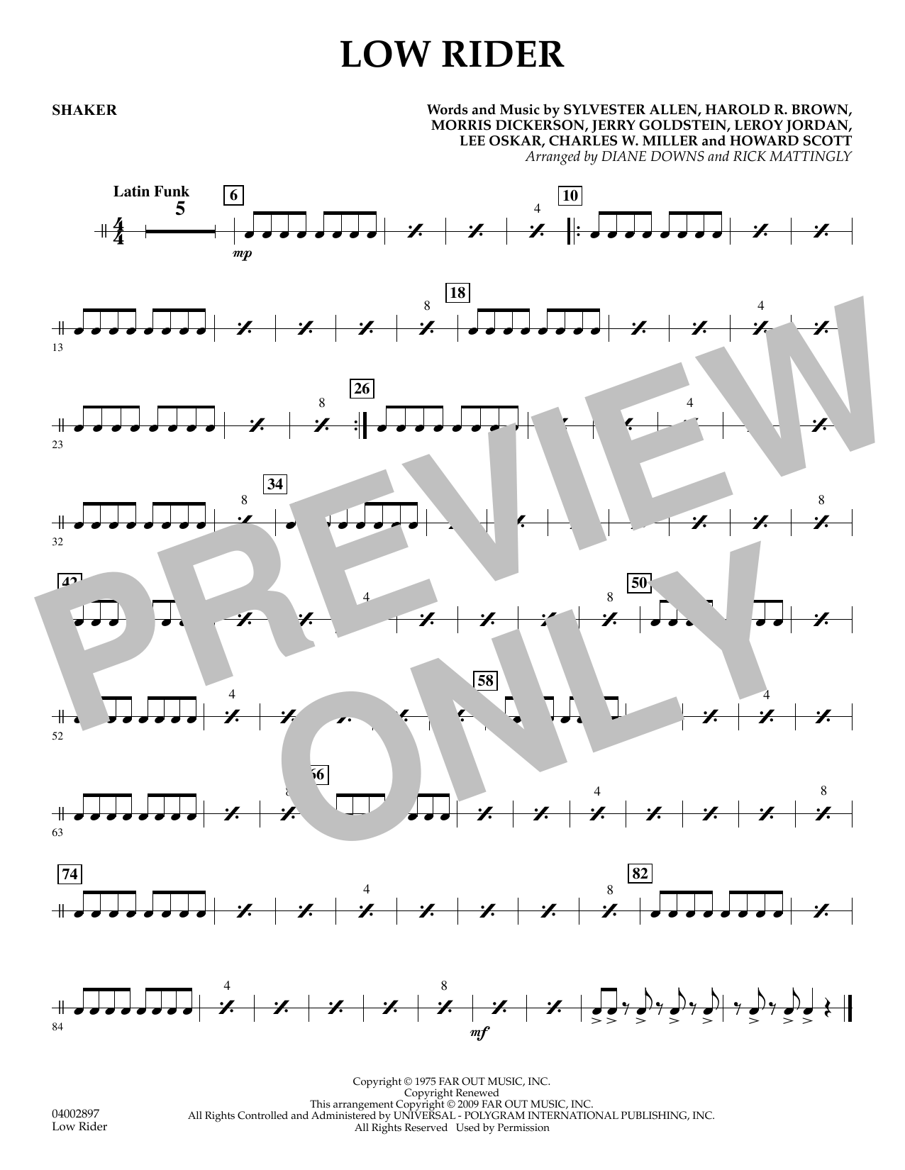 Low Rider - Shaker (Concert Band)