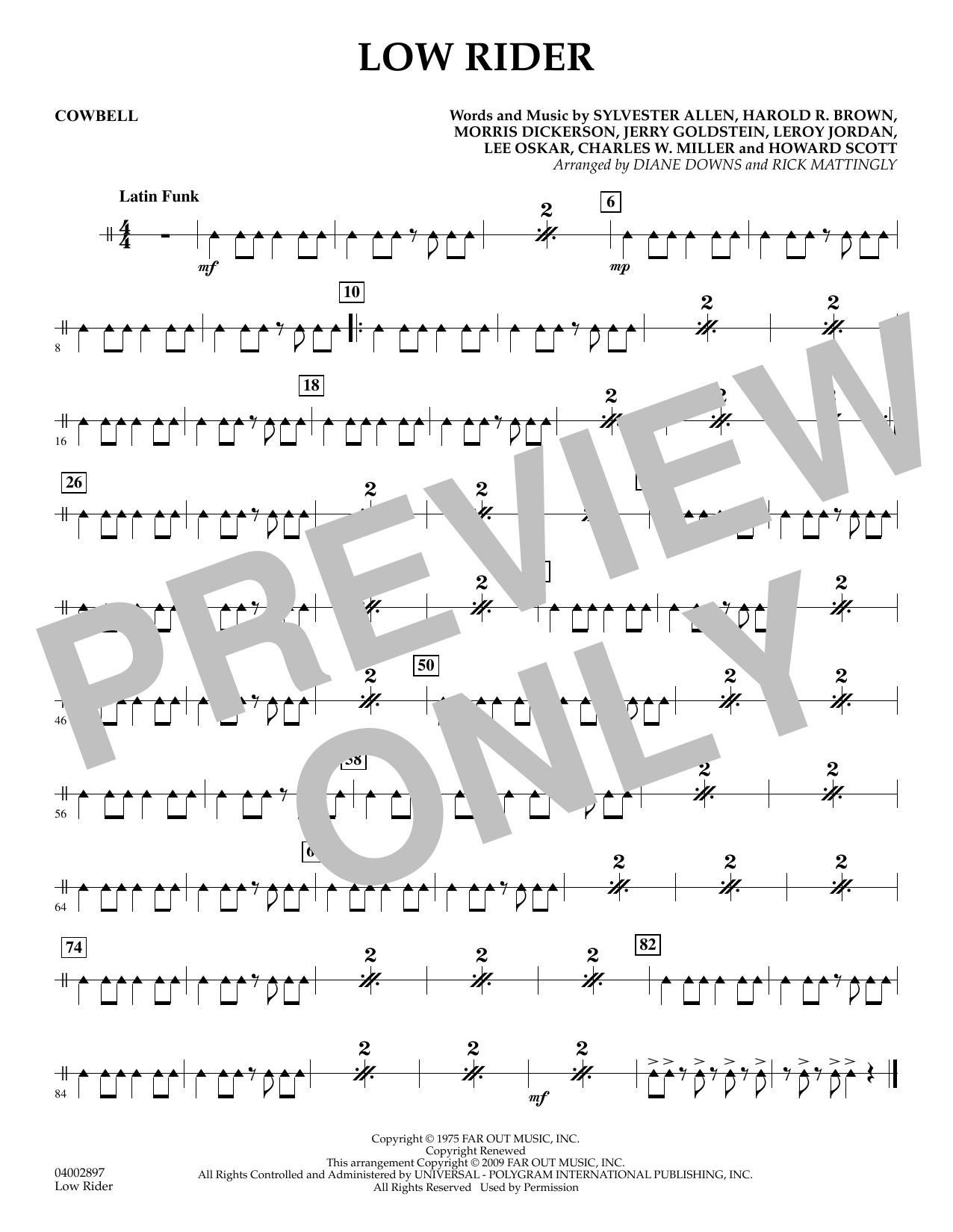 Low Rider - Cowbell (Concert Band)