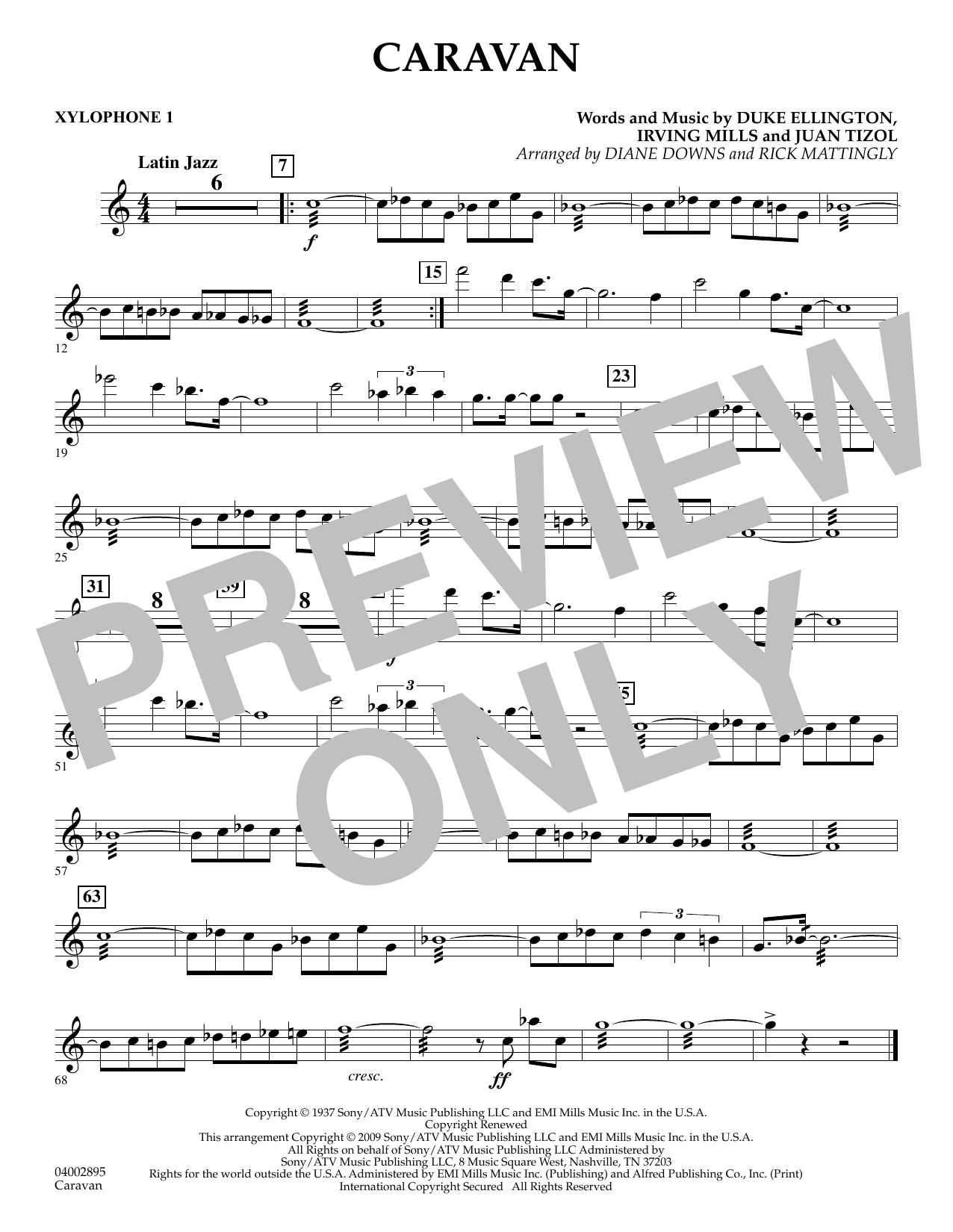 Caravan - Xylophone 1 (Concert Band)