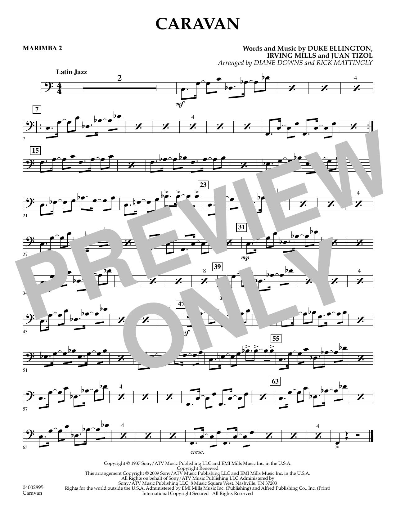 Caravan - Marimba 2 (Concert Band)