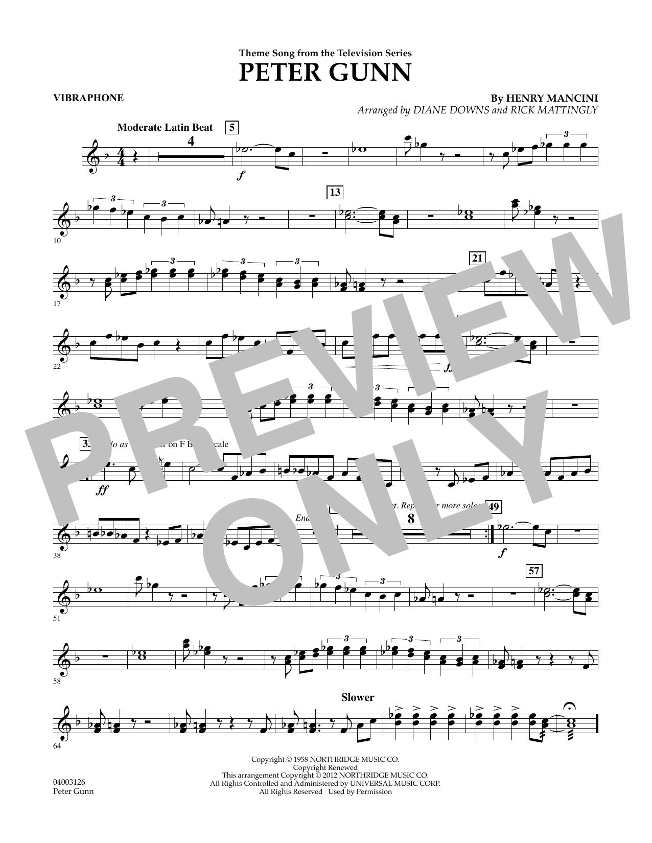 Peter Gunn - Vibes (Concert Band)