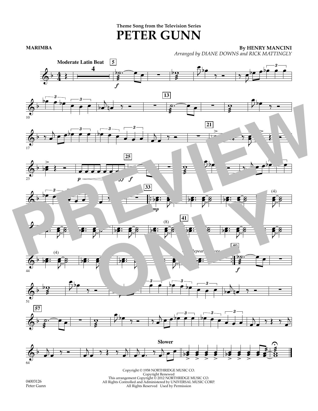 Peter Gunn - Marimba (Concert Band)