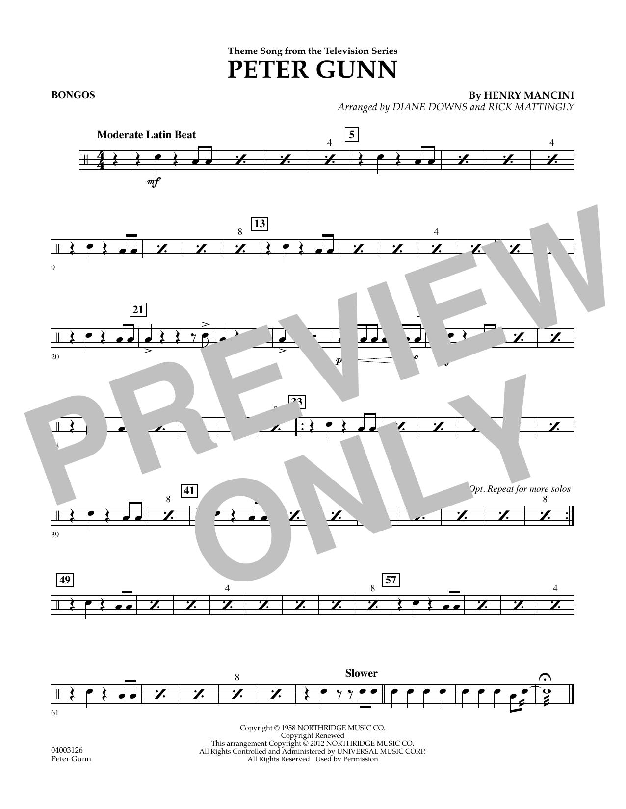 Peter Gunn - Bongos (Concert Band)
