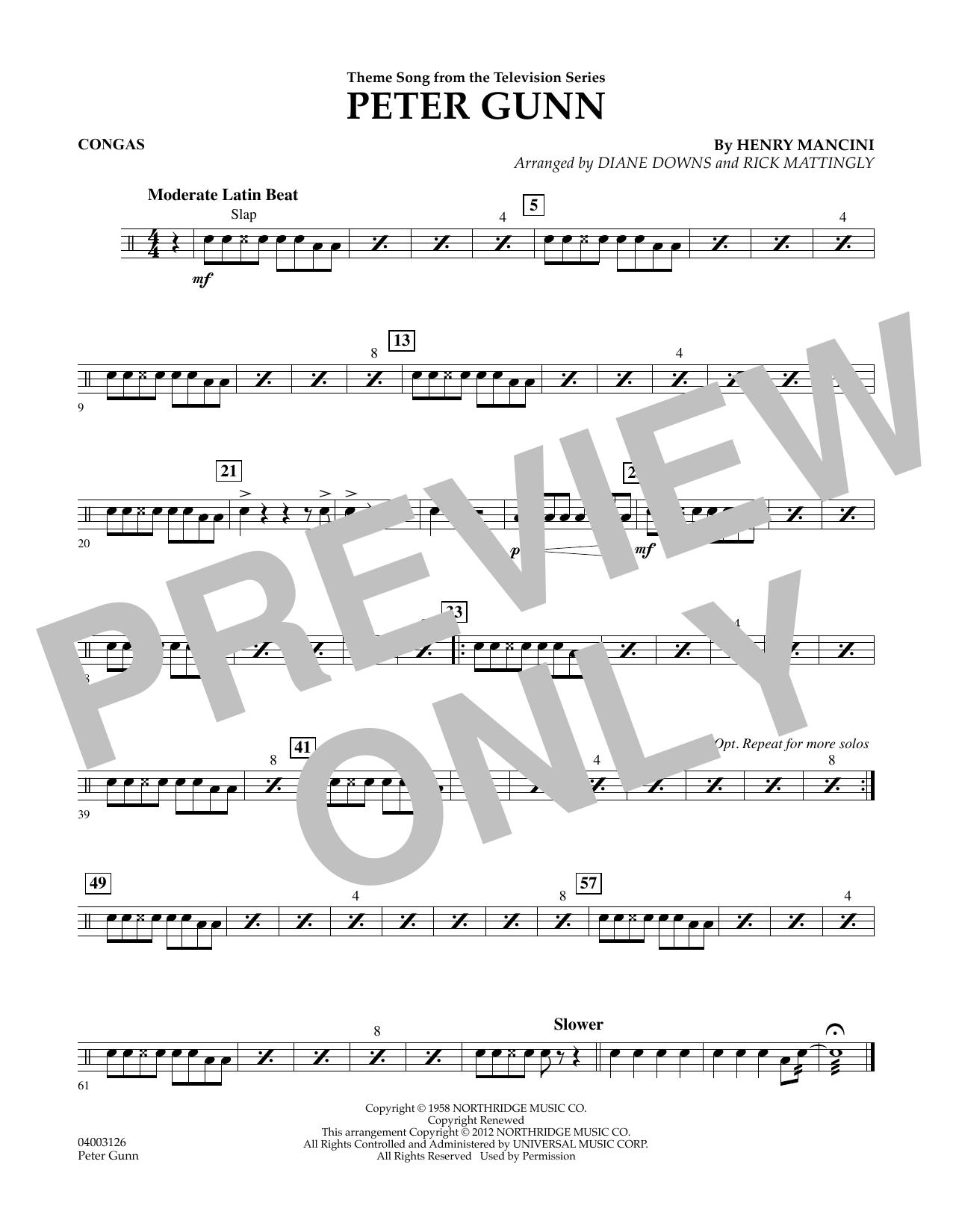 Peter Gunn - Congas (Concert Band)