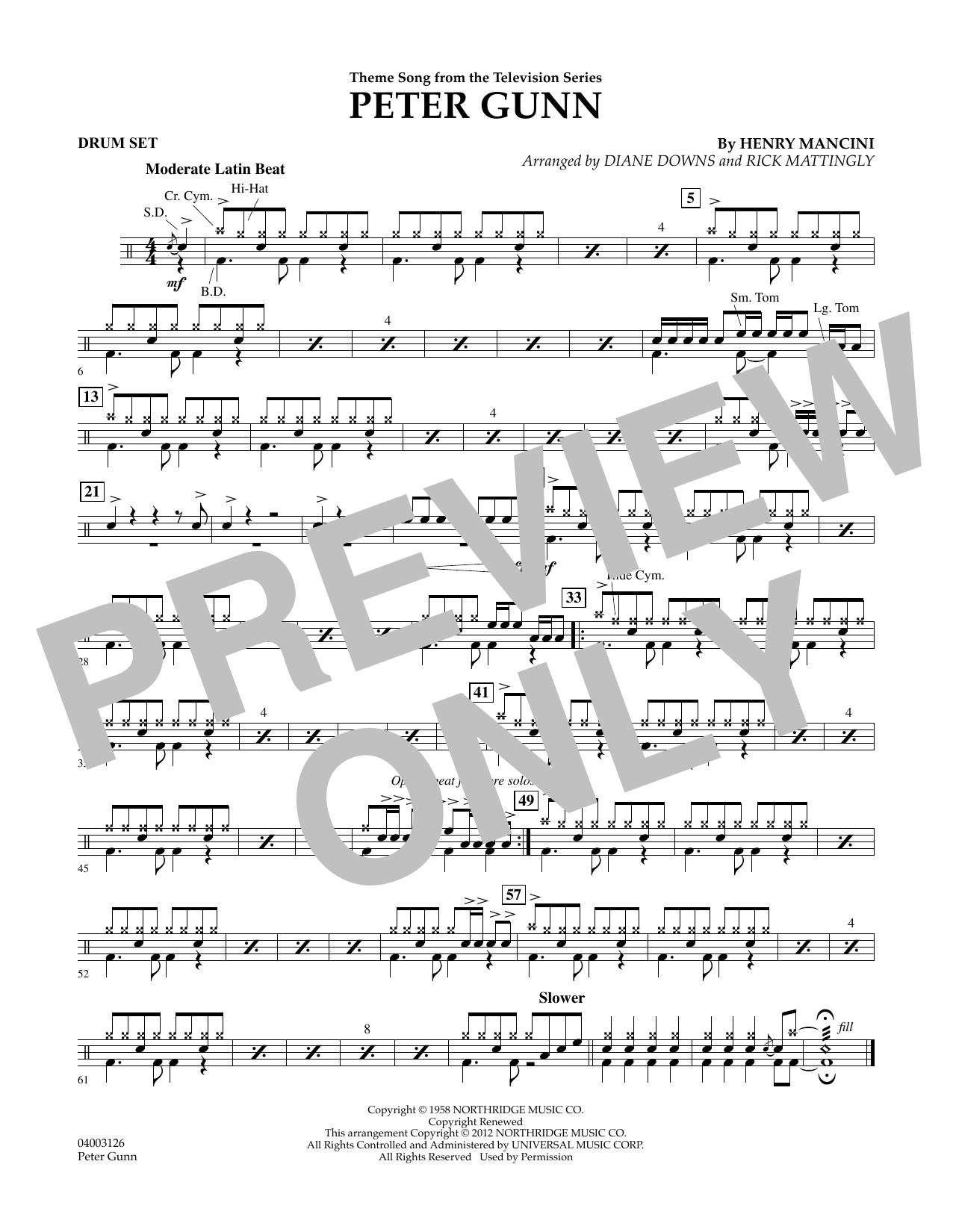 Peter Gunn - Drum Set (Concert Band)