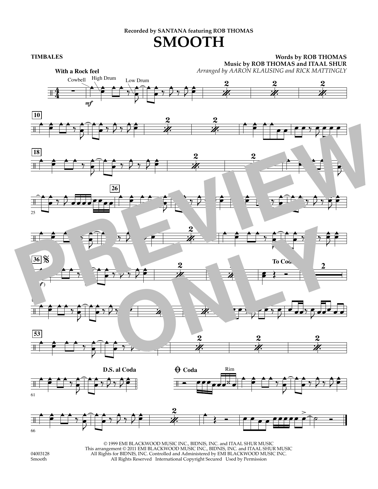 Smooth - Timbales (Concert Band)