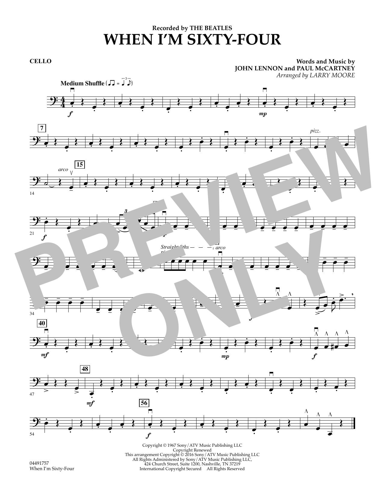 When I'm Sixty-Four - Cello (String Quartet)