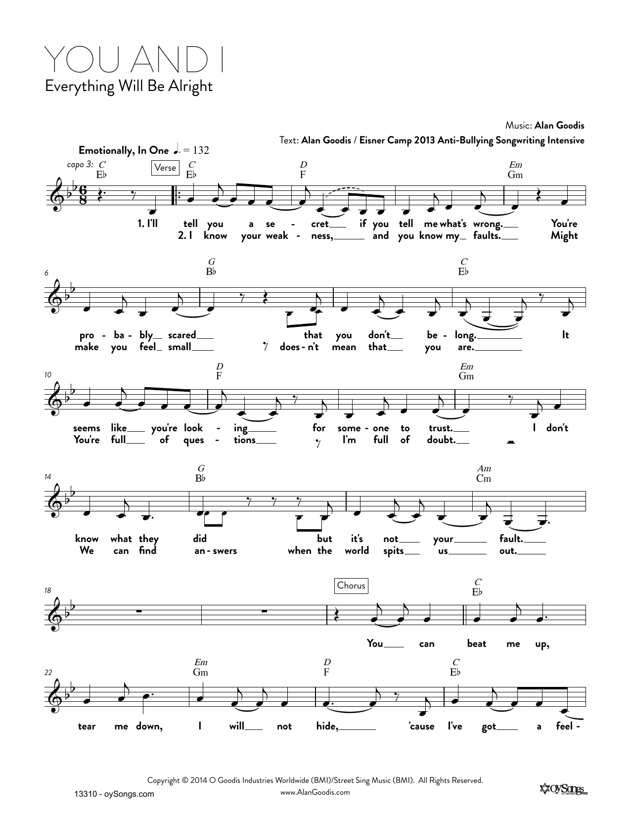 You and I (Real Book – Melody, Lyrics & Chords)