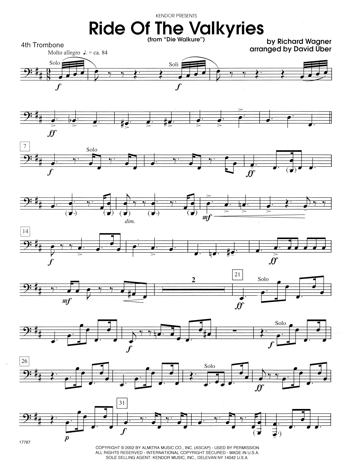 Ride Of The Valkyries Sheet Music Violin
