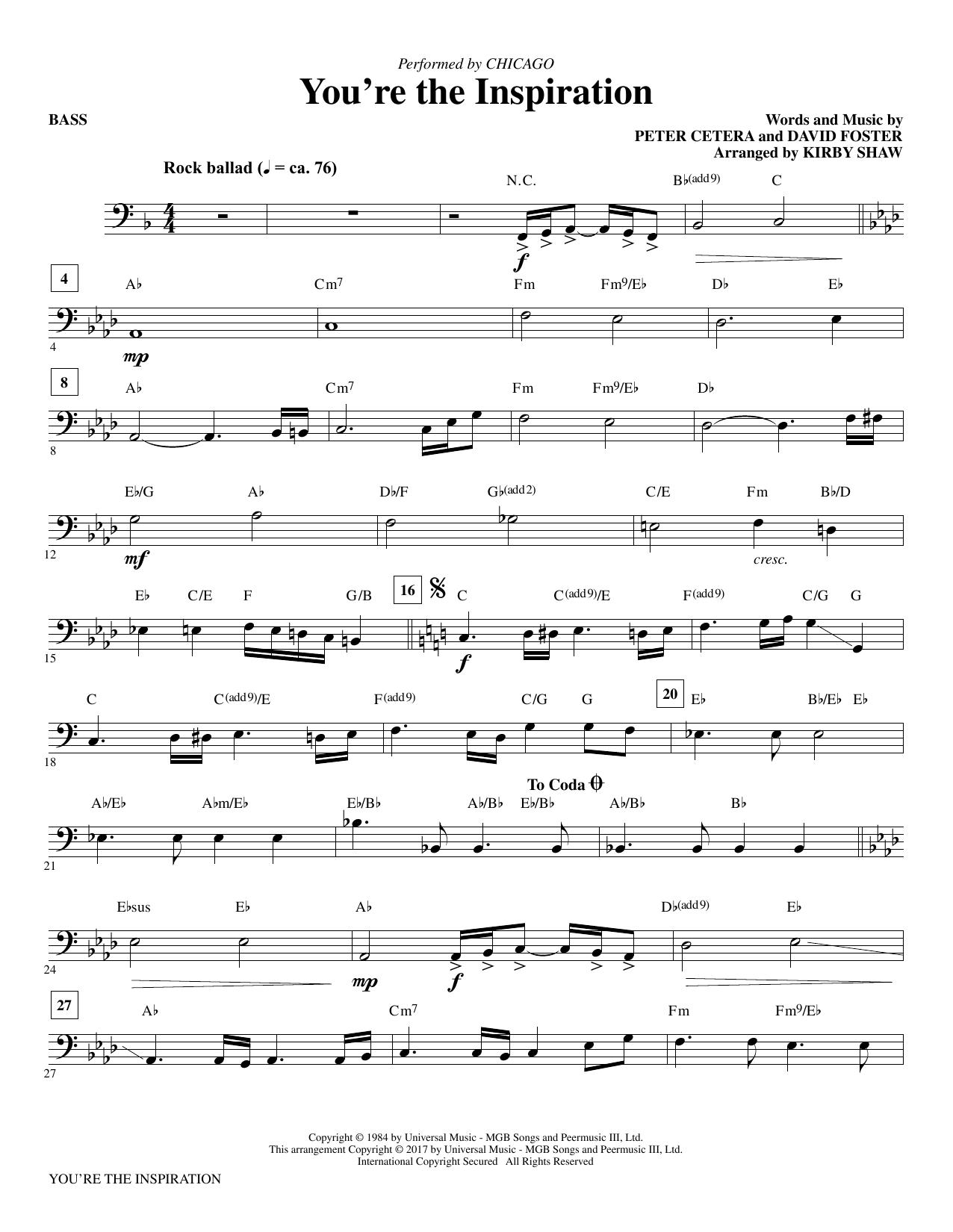 You're the Inspiration - Bass (Choir Instrumental Pak)