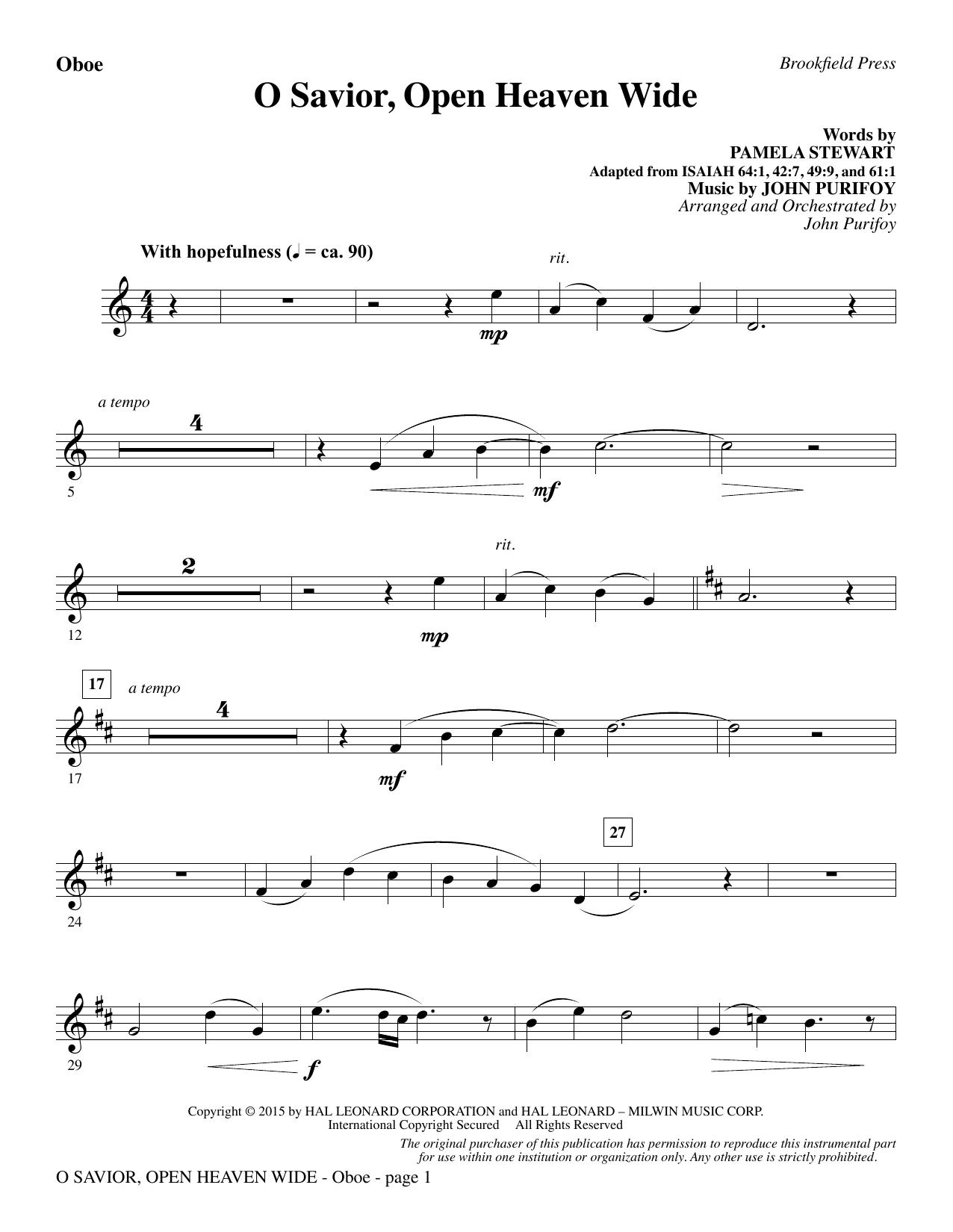 O Savior, Open Heaven Wide - Oboe (Choir Instrumental Pak)