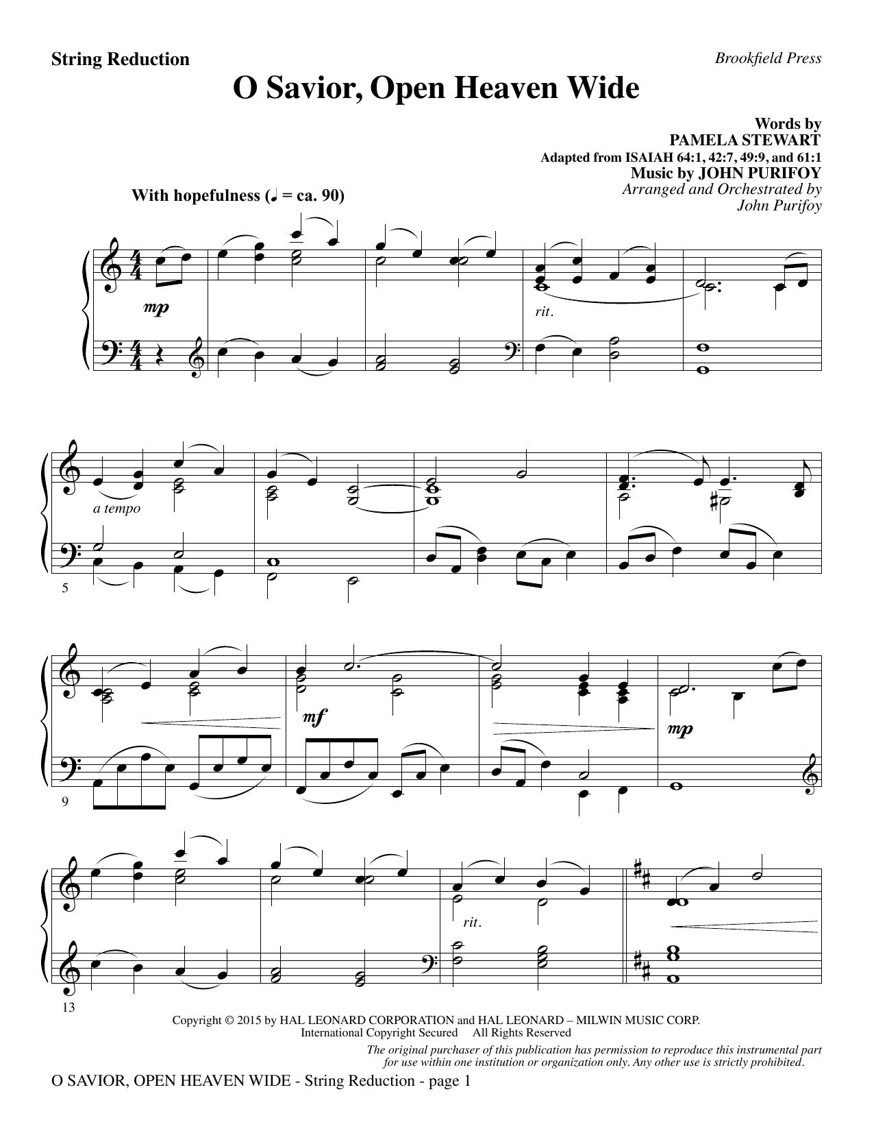 O Savior, Open Heaven Wide - Keyboard String Reduction (Choir Instrumental Pak)