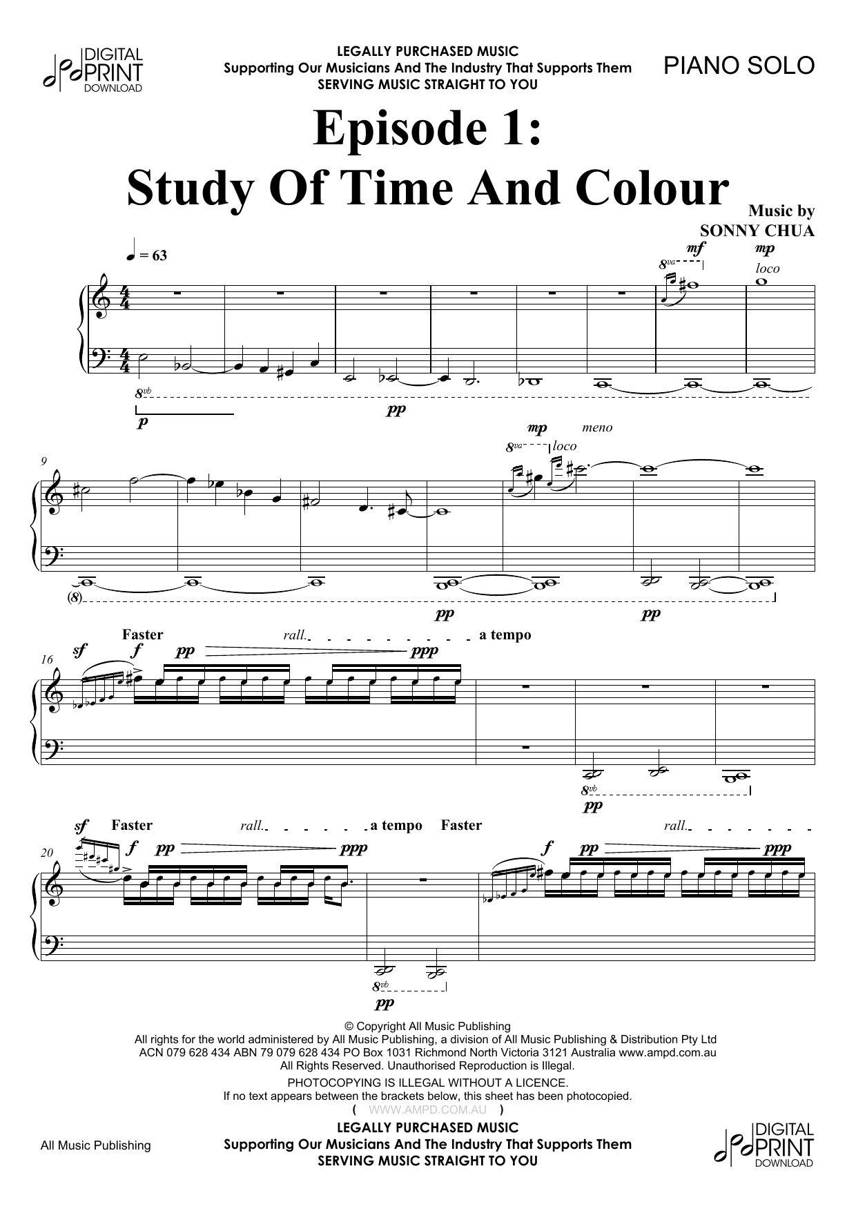 Episode 1 Study Of Time And Colour (Piano Solo)