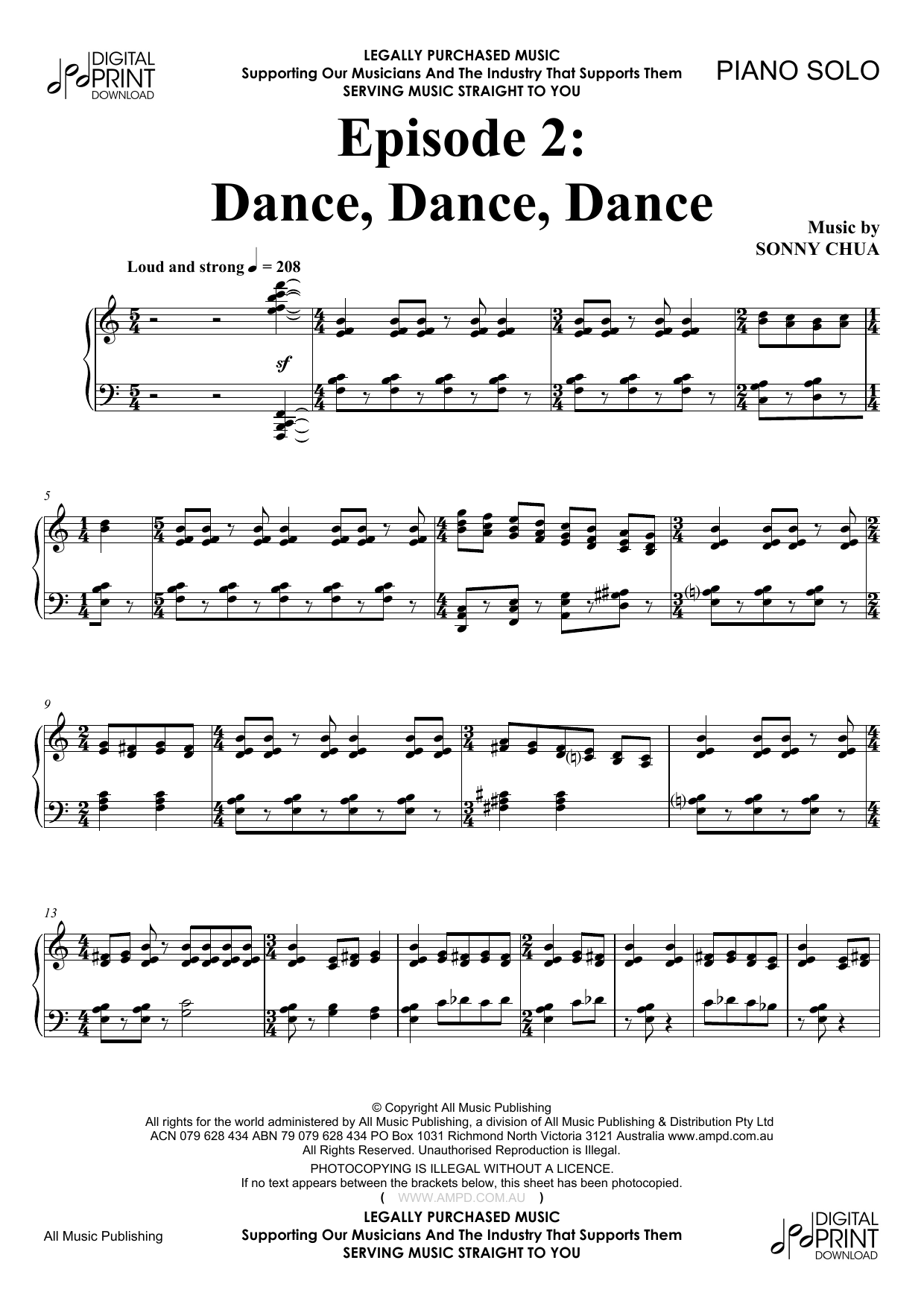 Episode 2 Dance, Dance, Dance (Piano Solo)