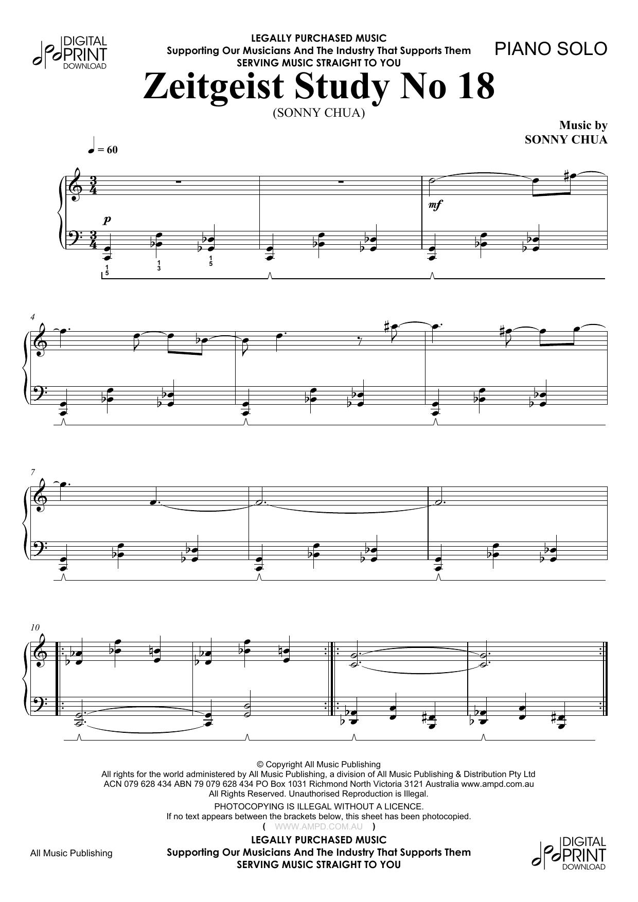 Zeitgeist Study No 18 (Piano Solo)