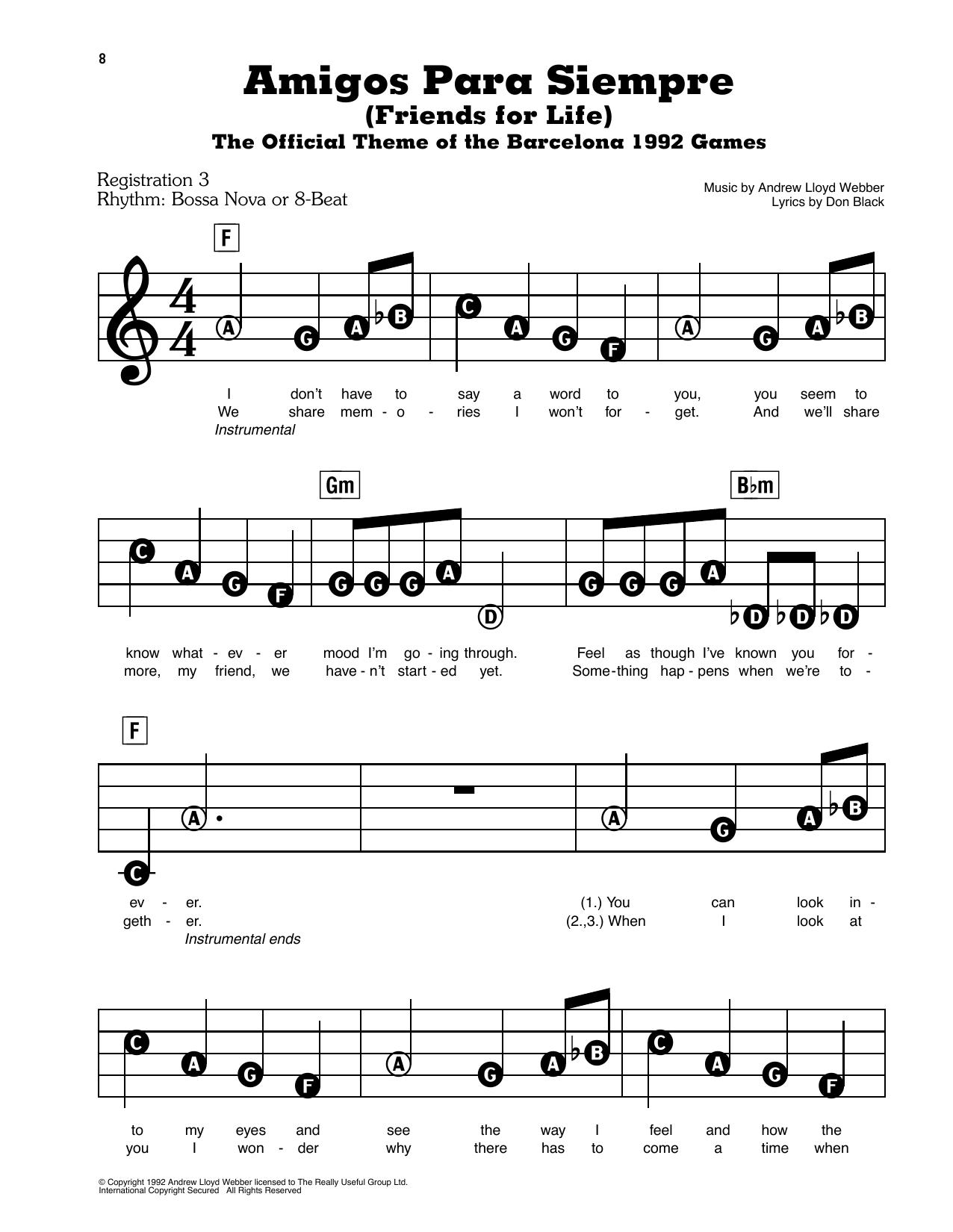 Amigos Para Siempre (Friends For Life) Sheet Music