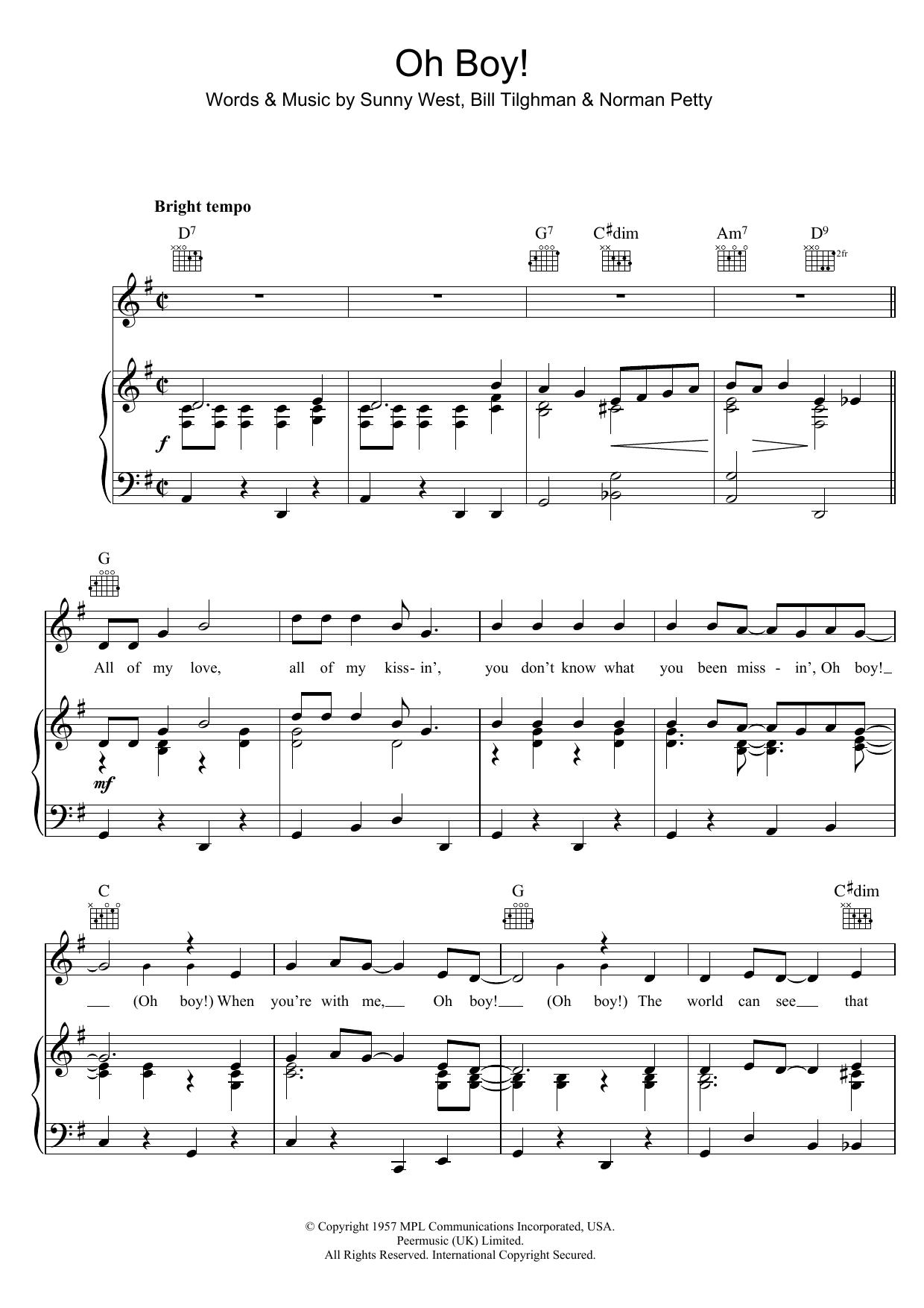 Oh Boy! (Piano, Vocal & Guitar)