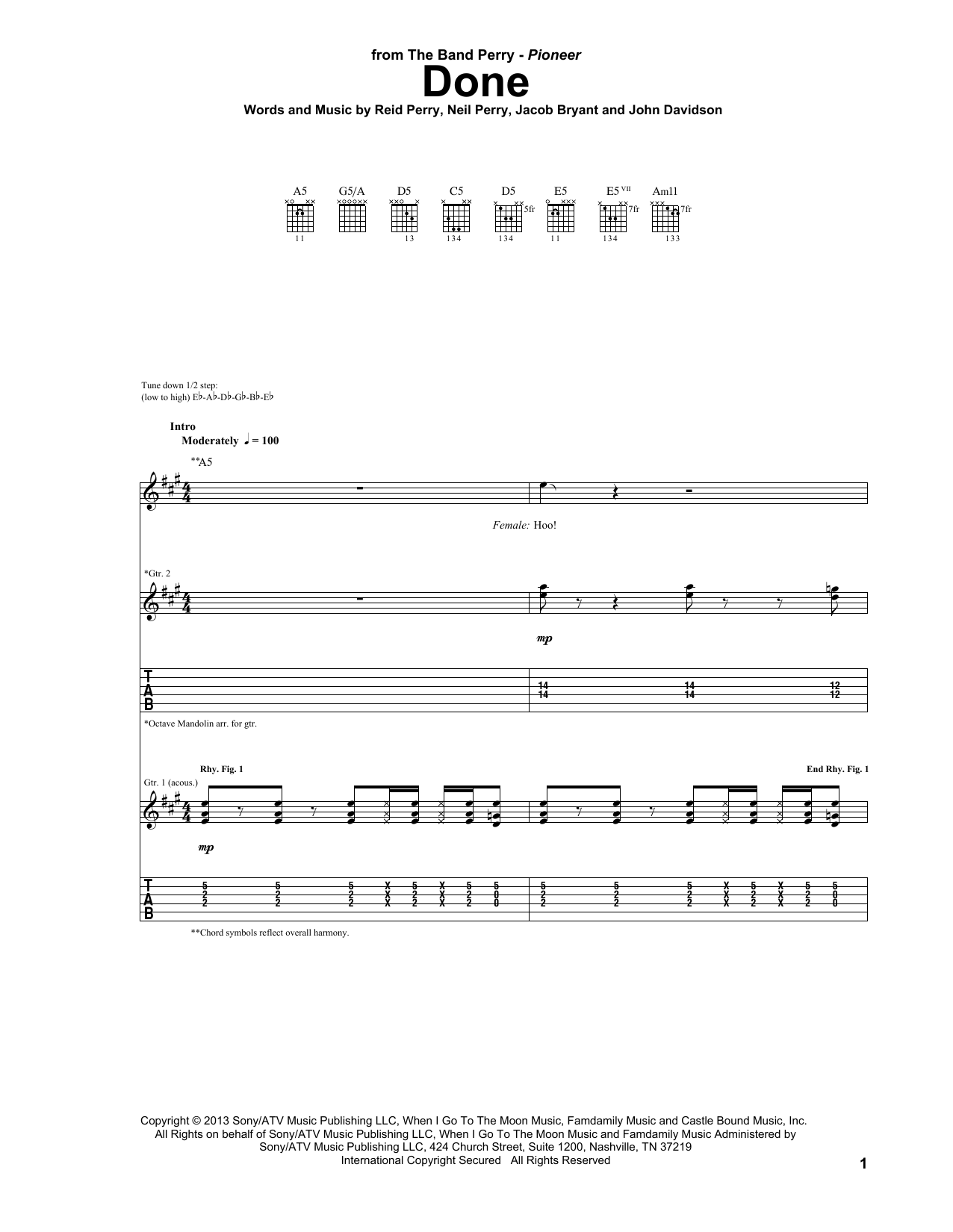 Done (Guitar Tab)