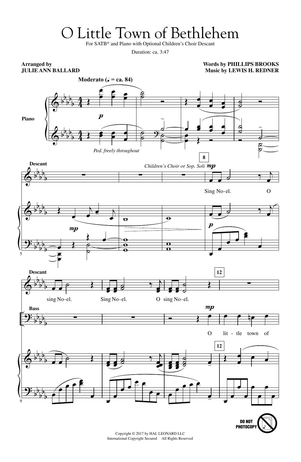 O Little Town Of Bethlehem (SATB Choir)