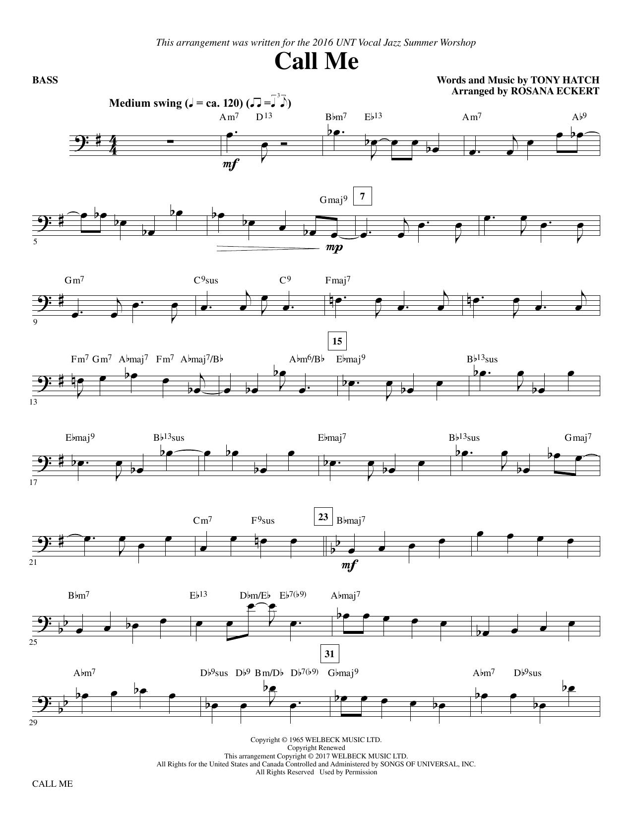 Call Me - Bass (Choir Instrumental Pak)