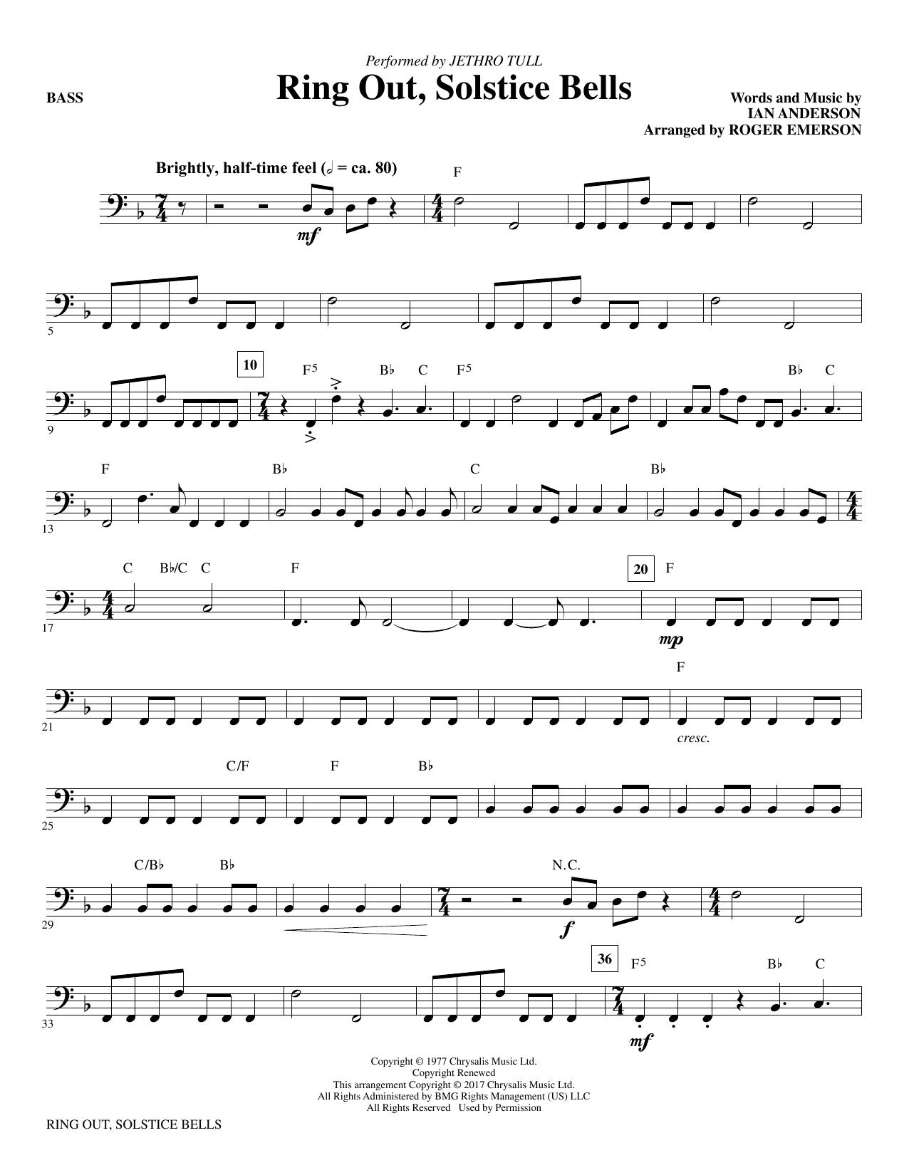 Ring Out, Solstice Bells - Bass (Choir Instrumental Pak)