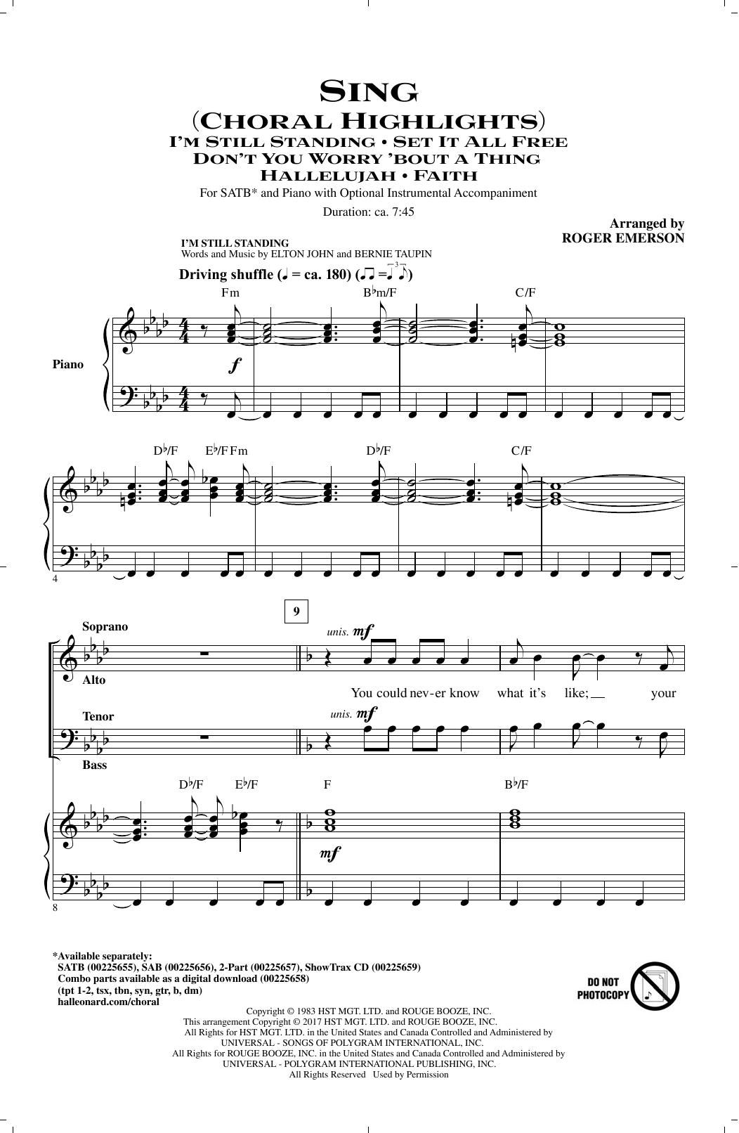 Sing (Choral Highlights) (SATB Choir)