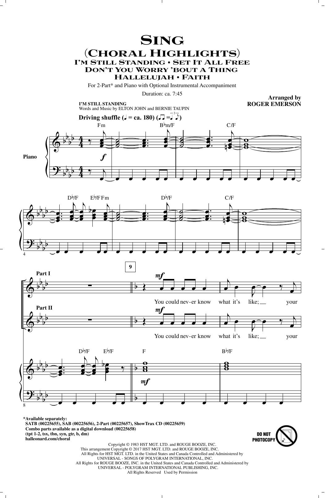 Sing (Choral Highlights) (2-Part Choir)