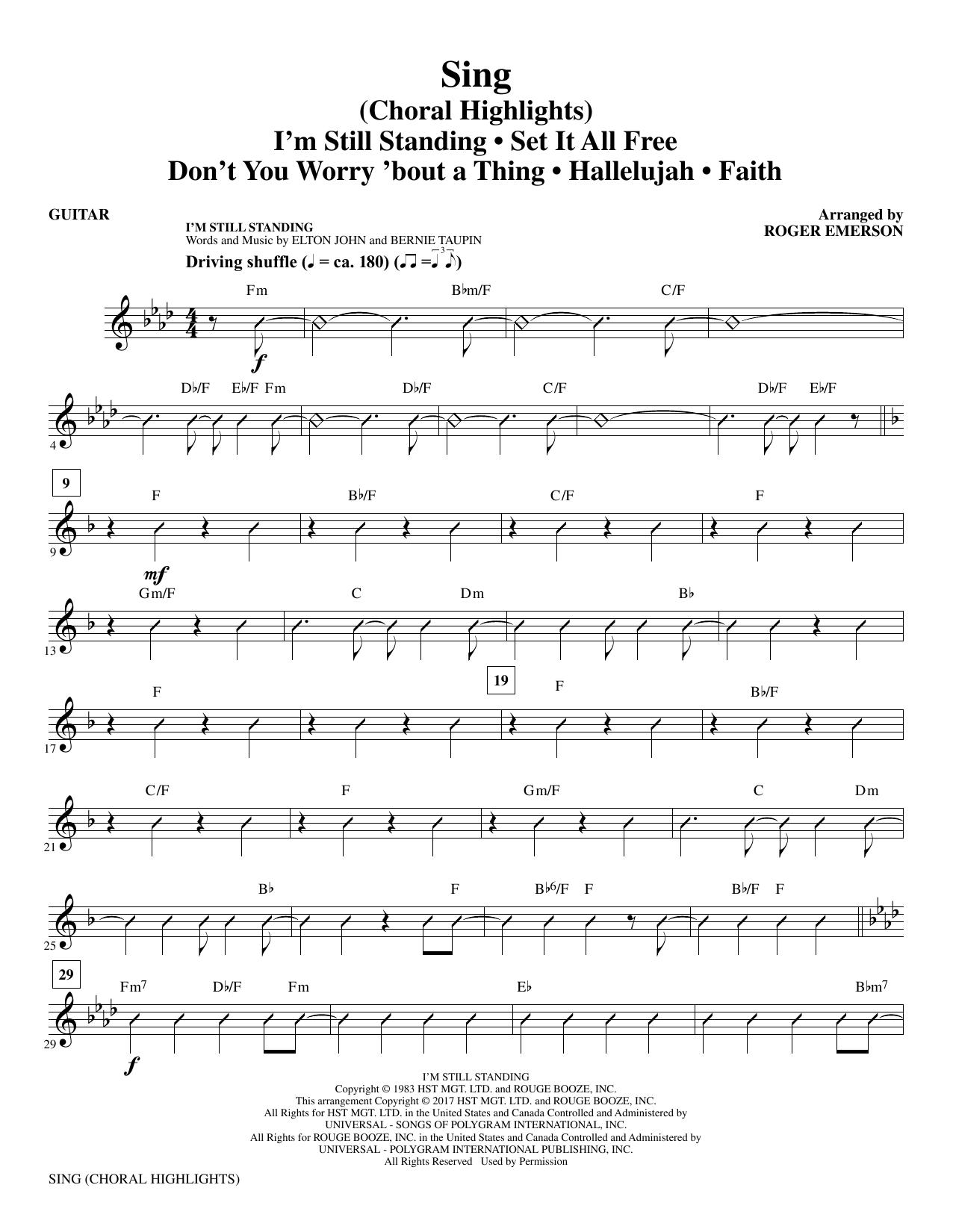 Sing (Choral Highlights) - Guitar (Choir Instrumental Pak)