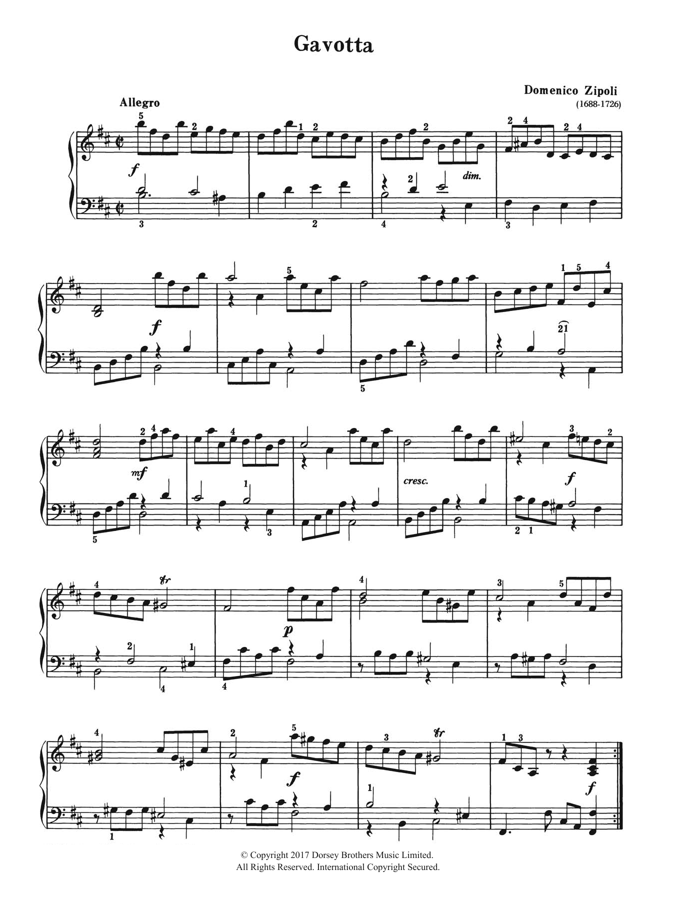 Gavotta Sheet Music