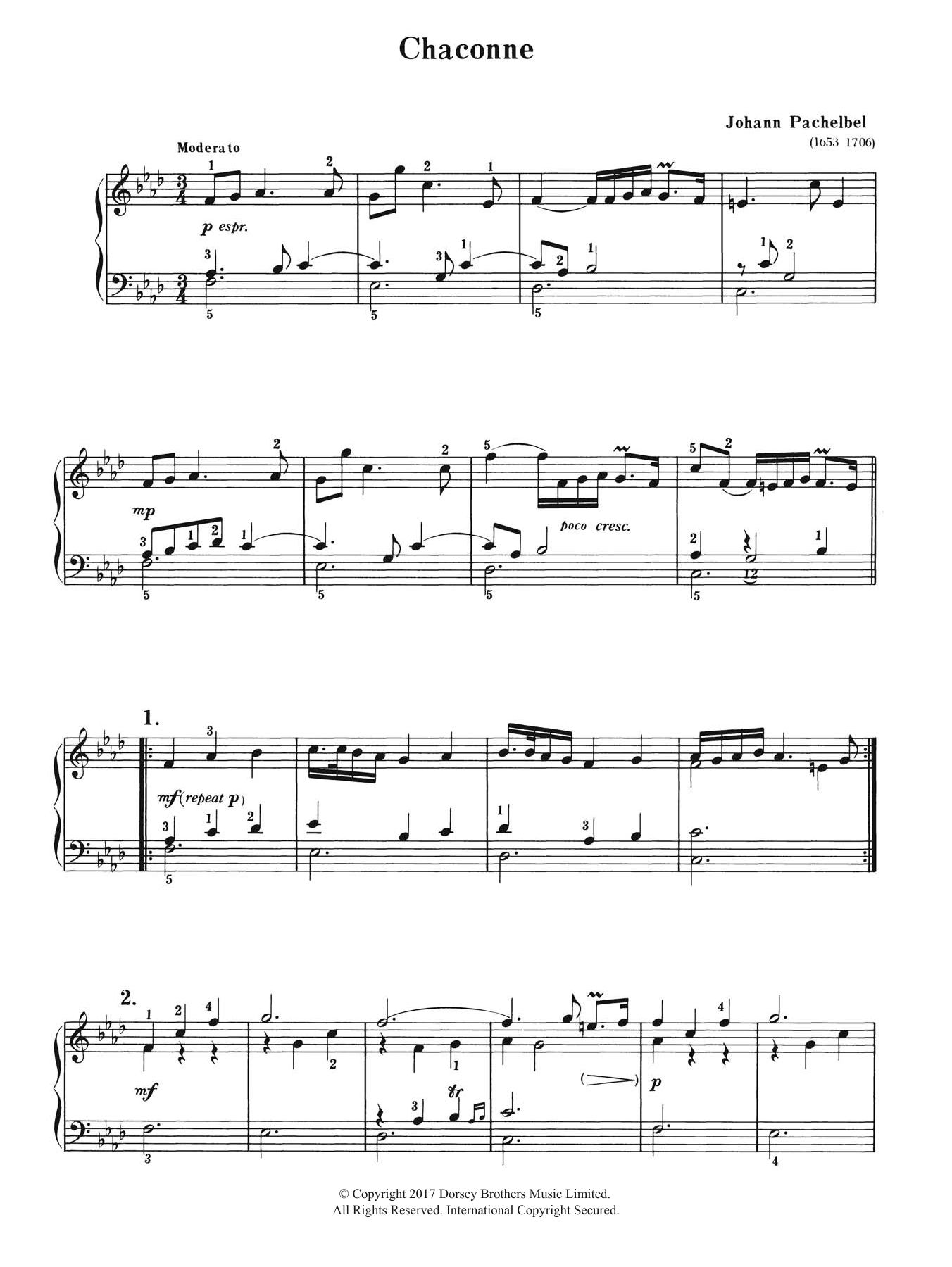 Chaconne Sheet Music